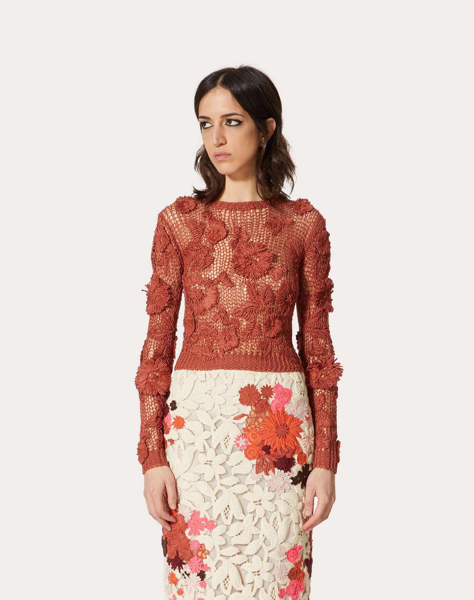 EMBROIDERED LINEN SWEATER 1
