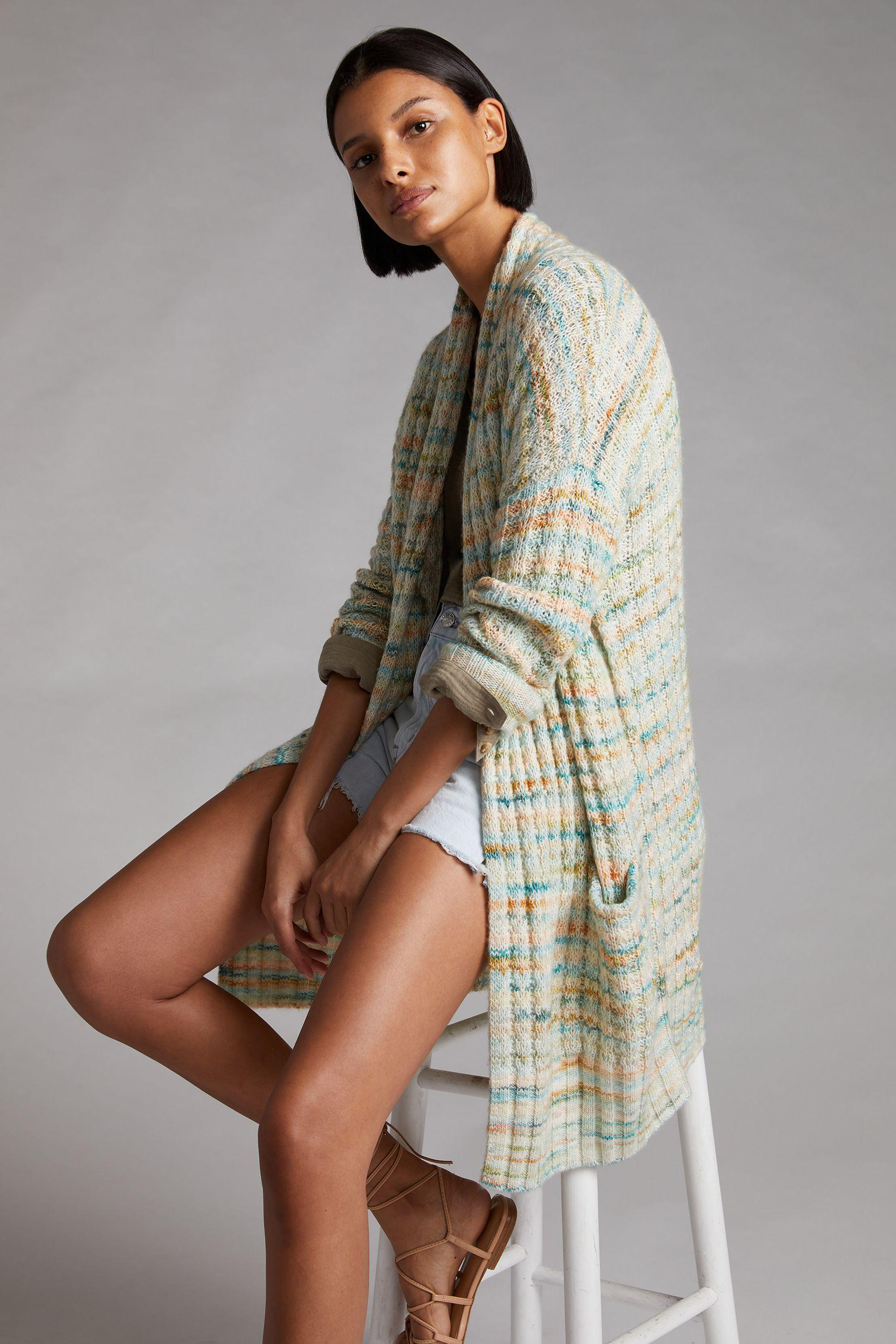 Space-Dyed Longline Cardigan