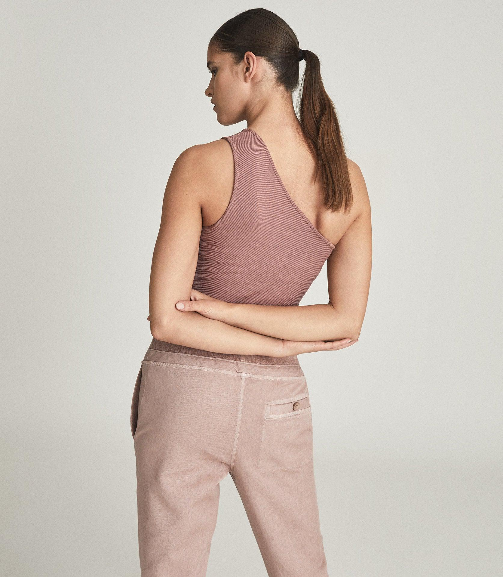 POLINA - ONE SHOULDER RIBBED JERSEY TOP 4