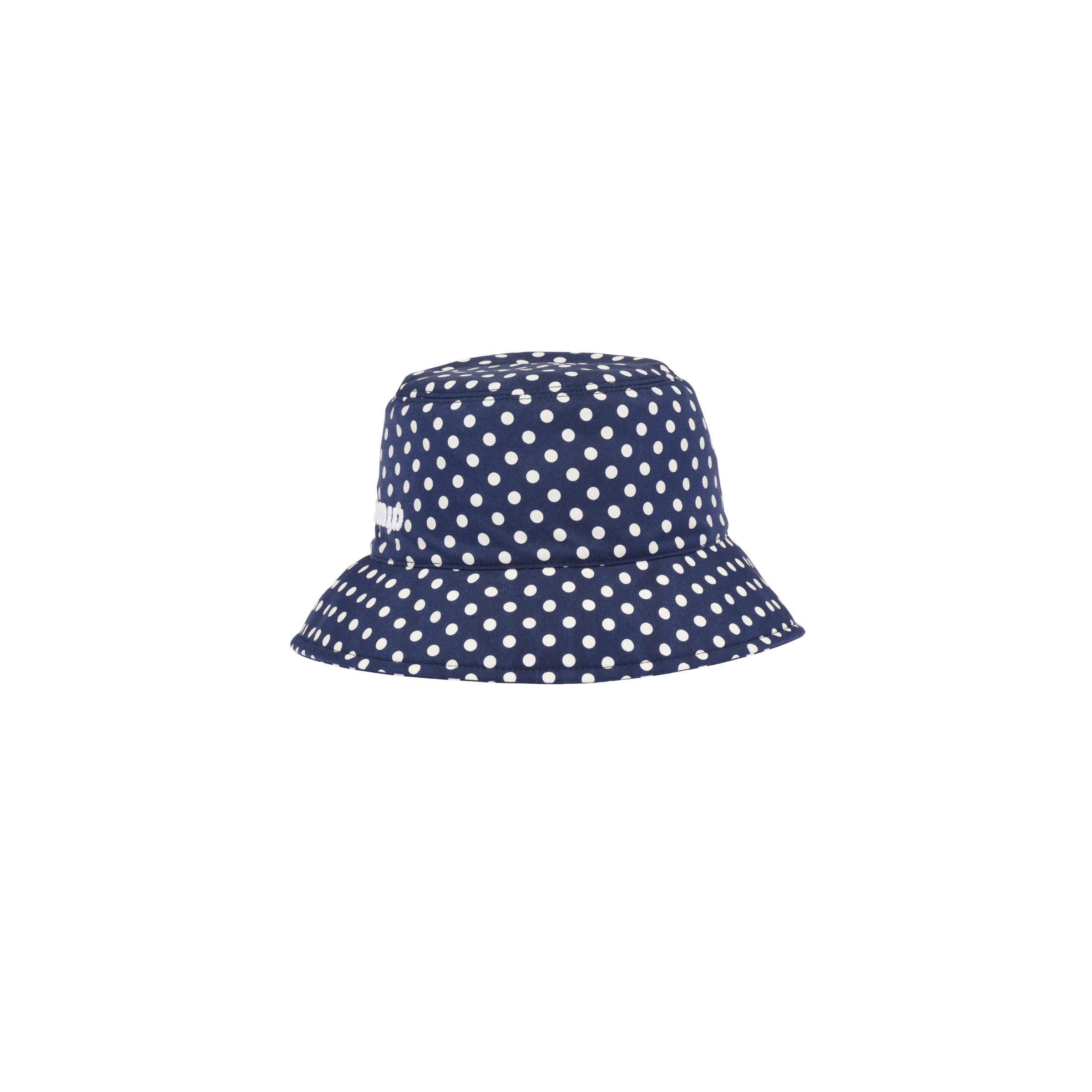 Printed Faille Bucket Hat Women Royal Blue/ivory