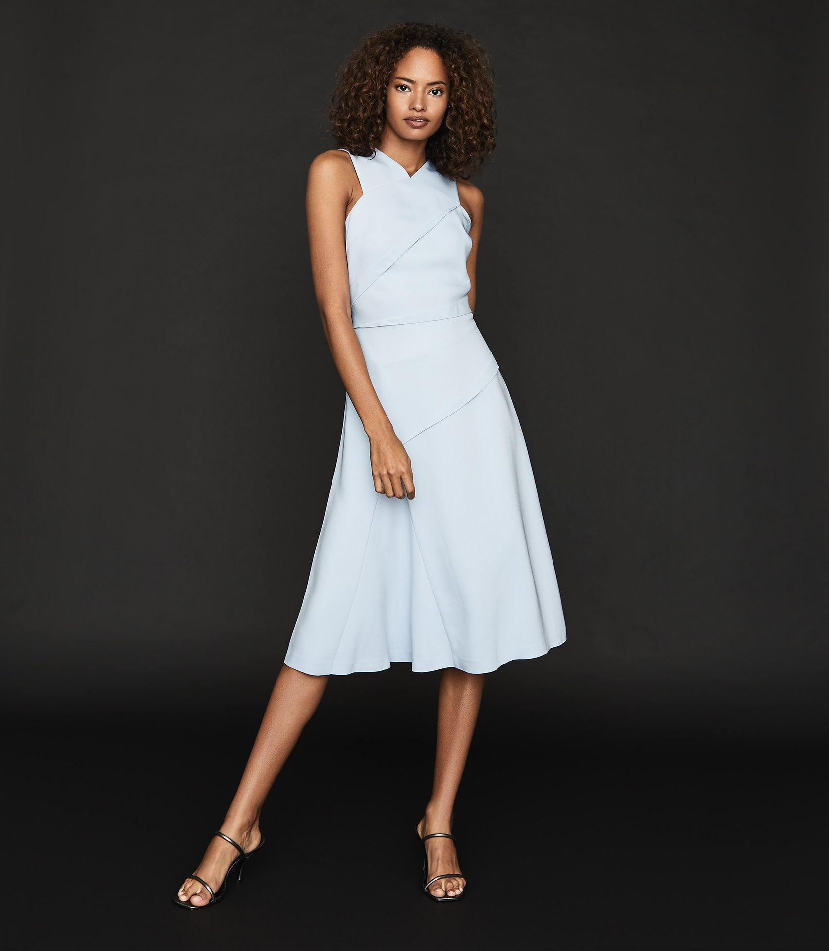 PAIGE - FIT-AND-FLARE MIDI DRESS