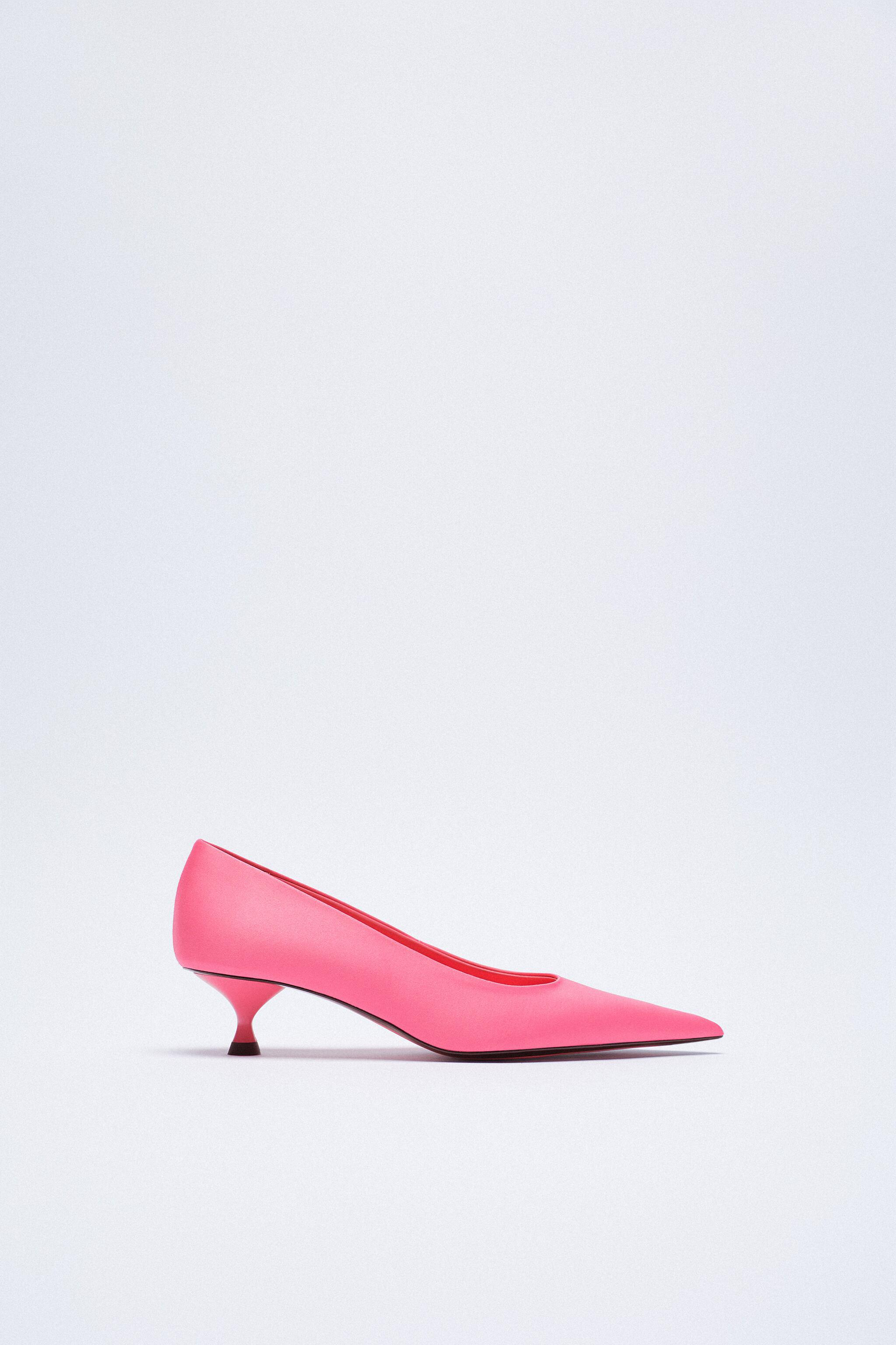 SATIN EFFECT POINTED TOE HEELS 8