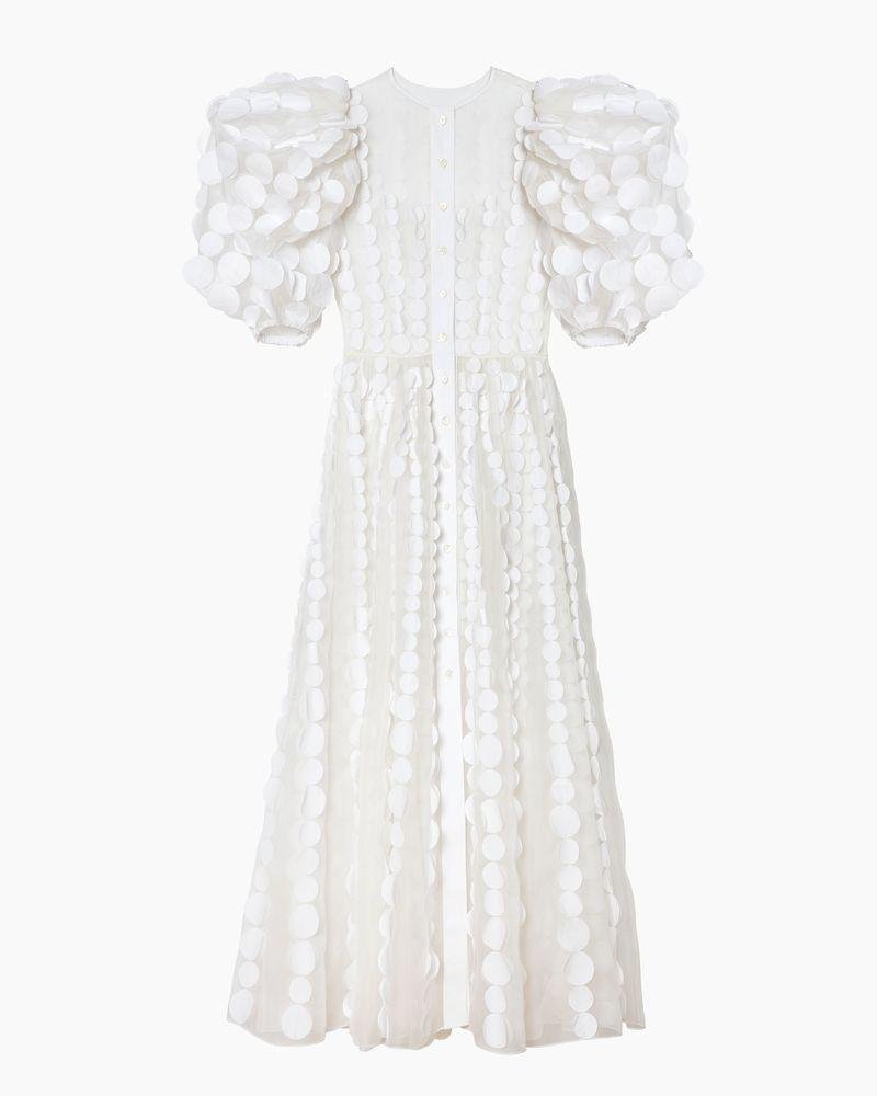 Puff Sleeve Embroidered Maxi Dress 3
