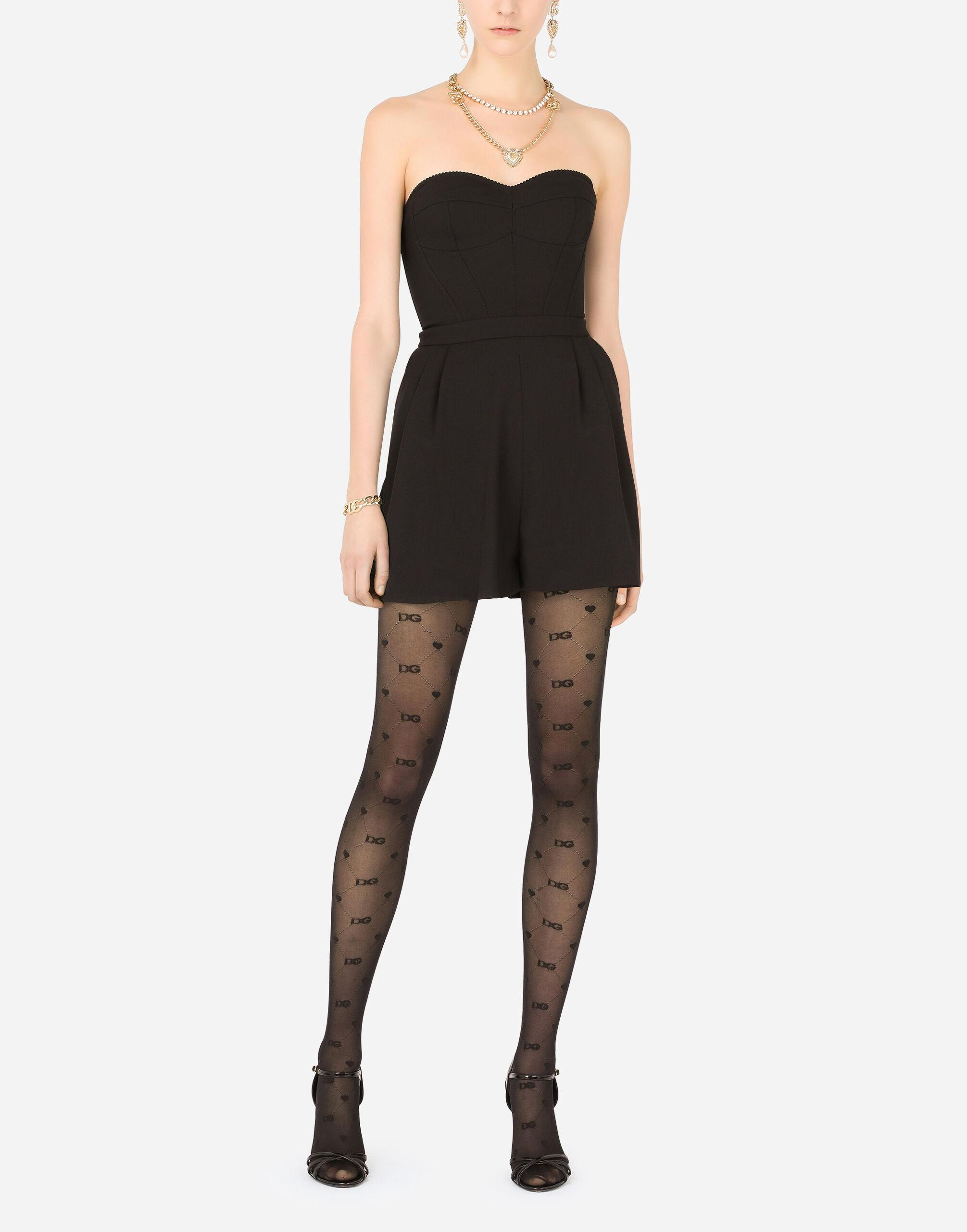 Tights with all-over jacquard DG logo