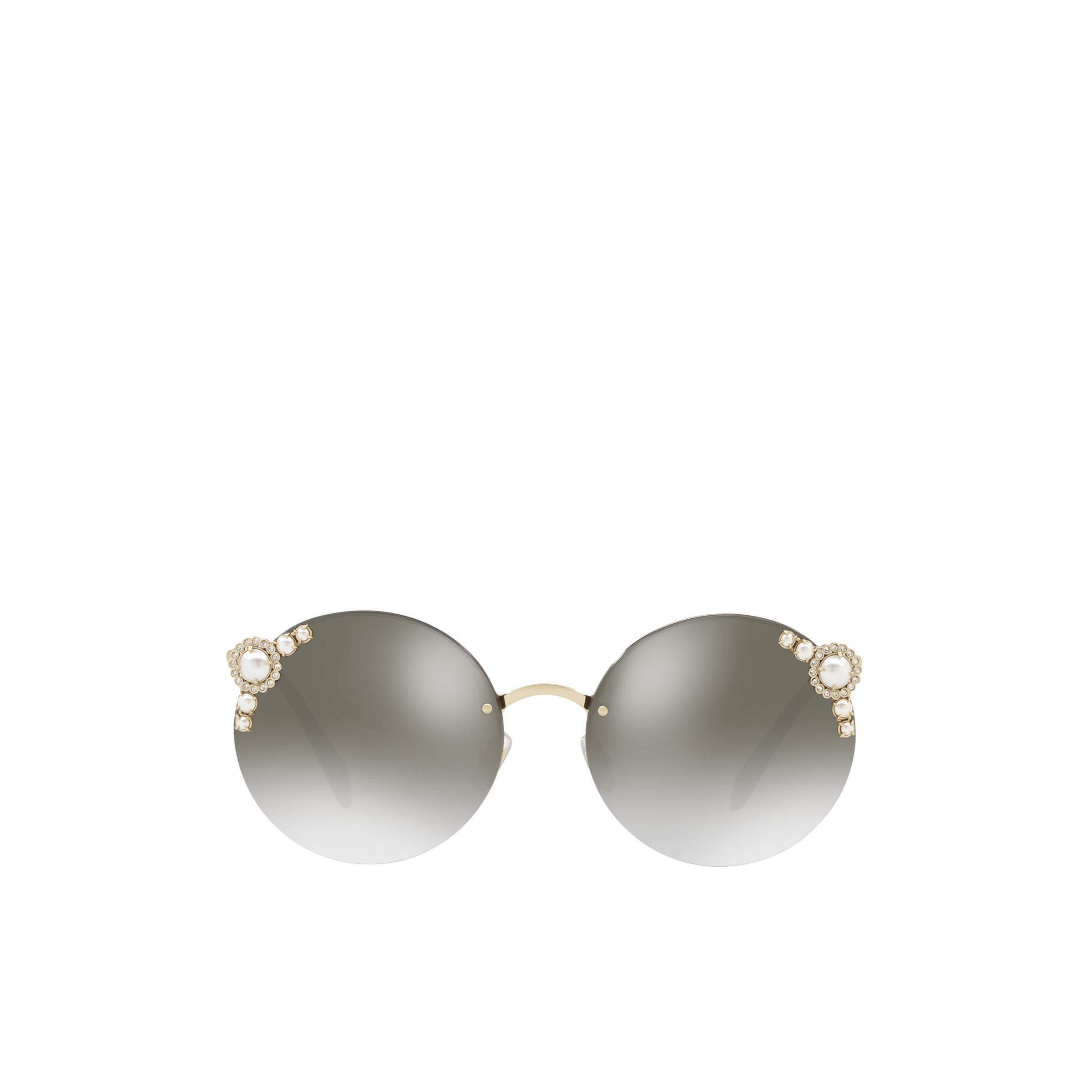 Manière Eyewear With Pearls Women Anthracite Gray To Lake Blue Gradient Lenses With Silver Mirror Finish