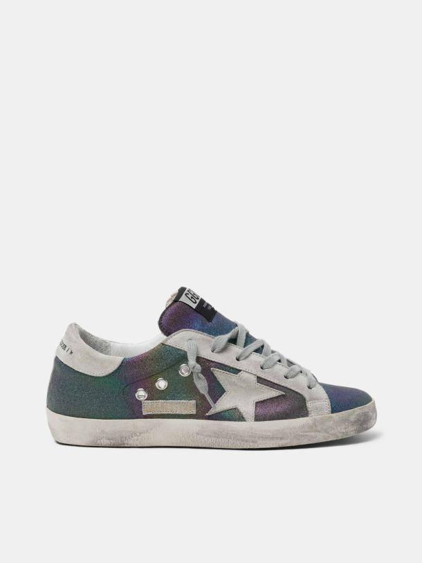 Super-Star sneakers with rainbow glitter