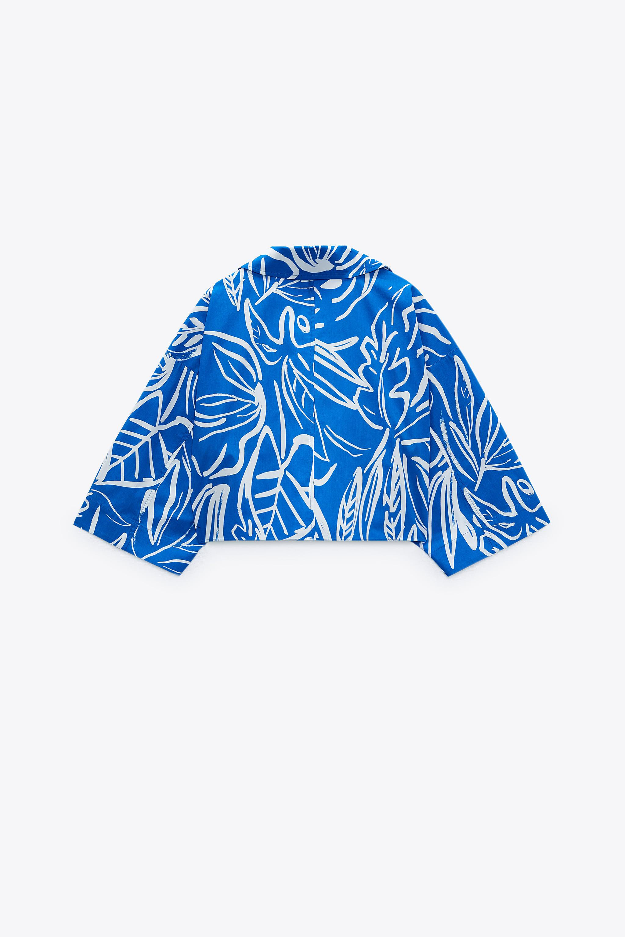 PRINTED CROPPED BLOUSE 6