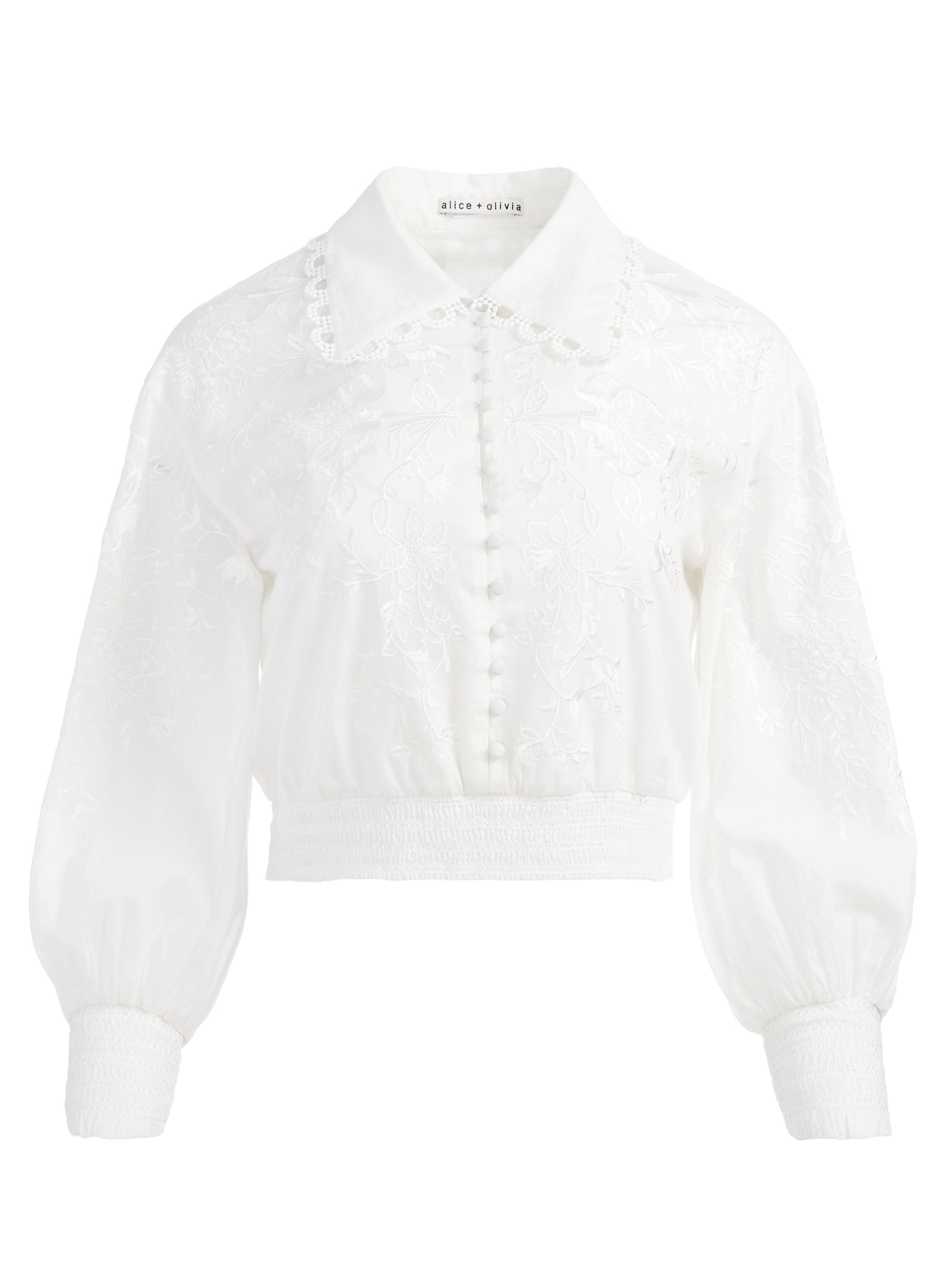ONELLA EMBROIDERED BUTTON FRONT BLOUSE 5