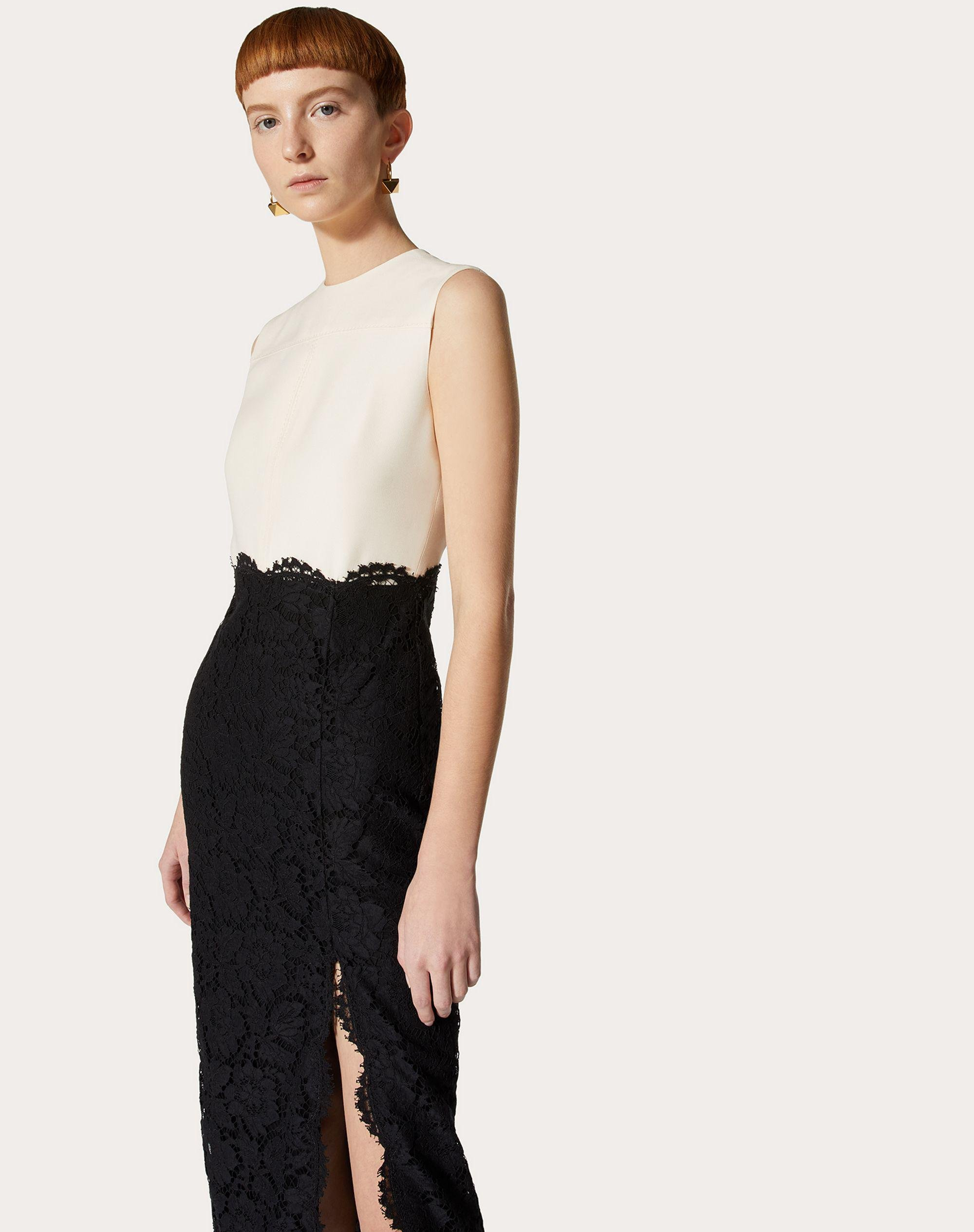 CREPE COUTURE AND HEAVY LACE DRESS 3