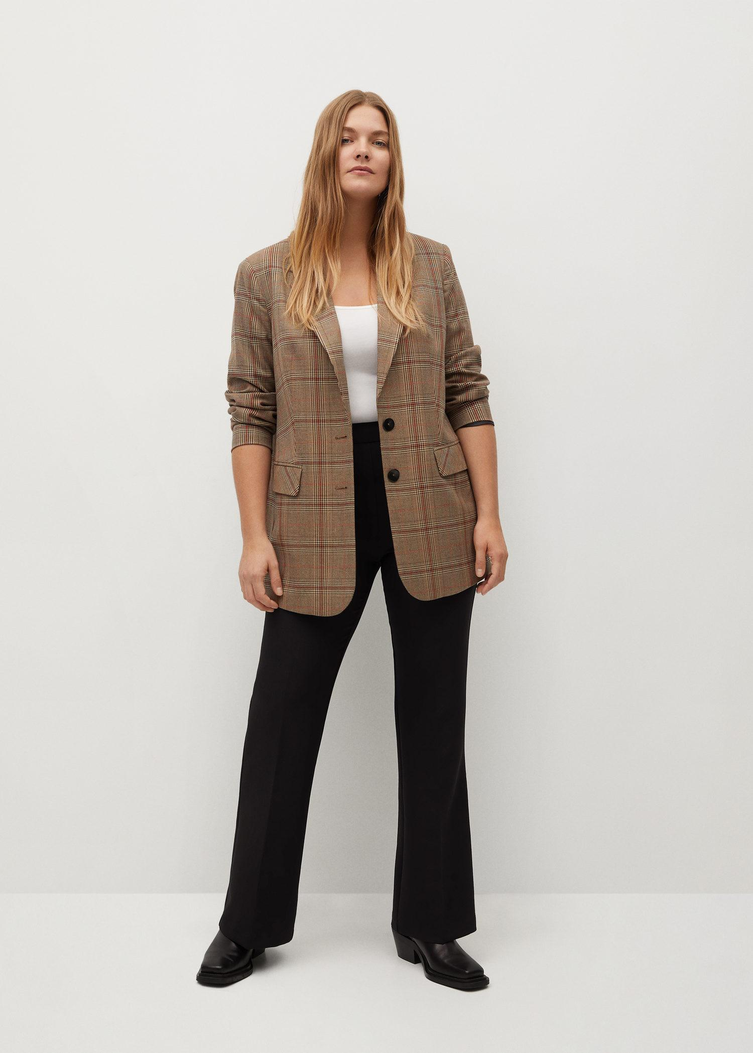 Flared suit trousers