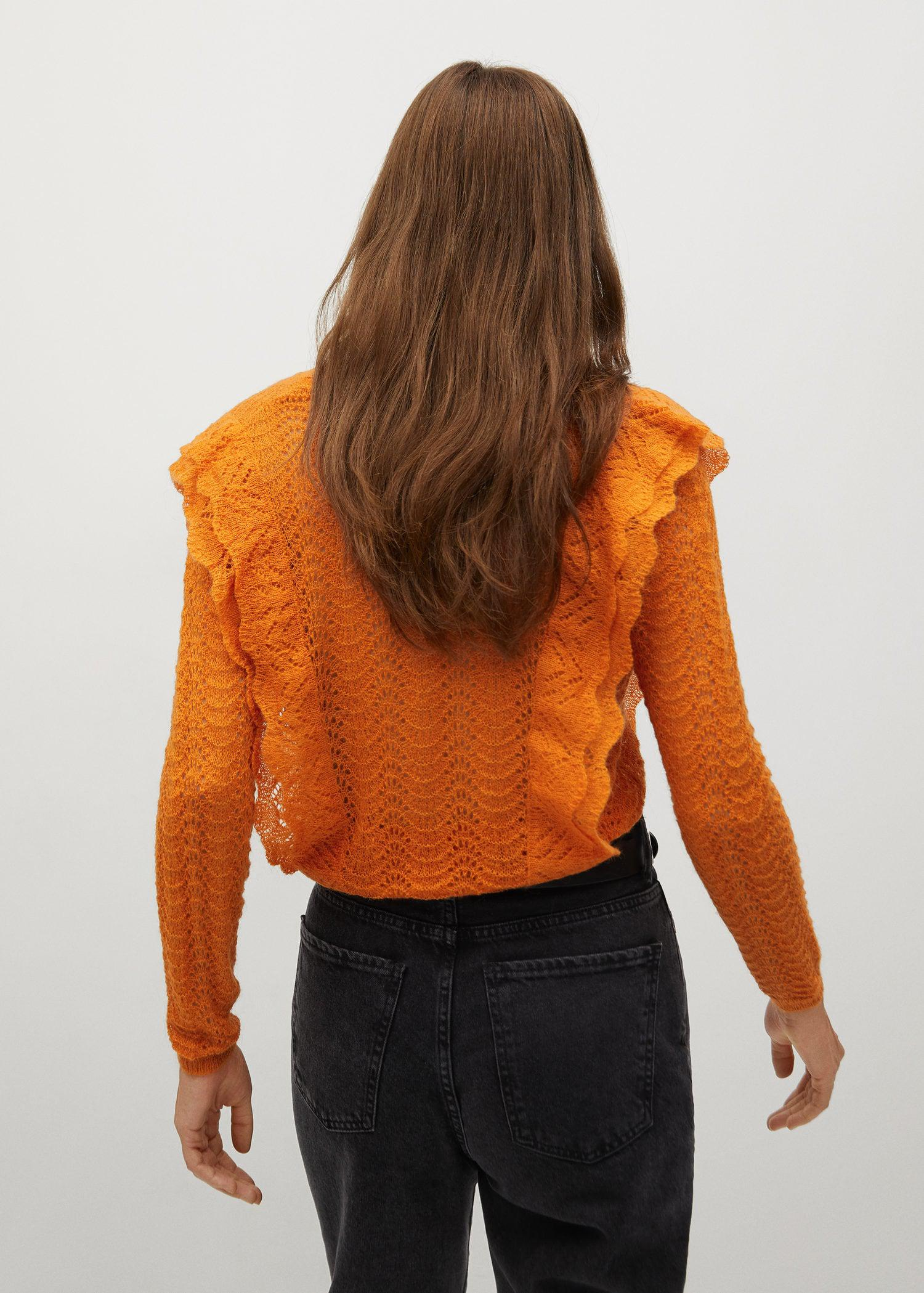Openwork cropped sweater 2