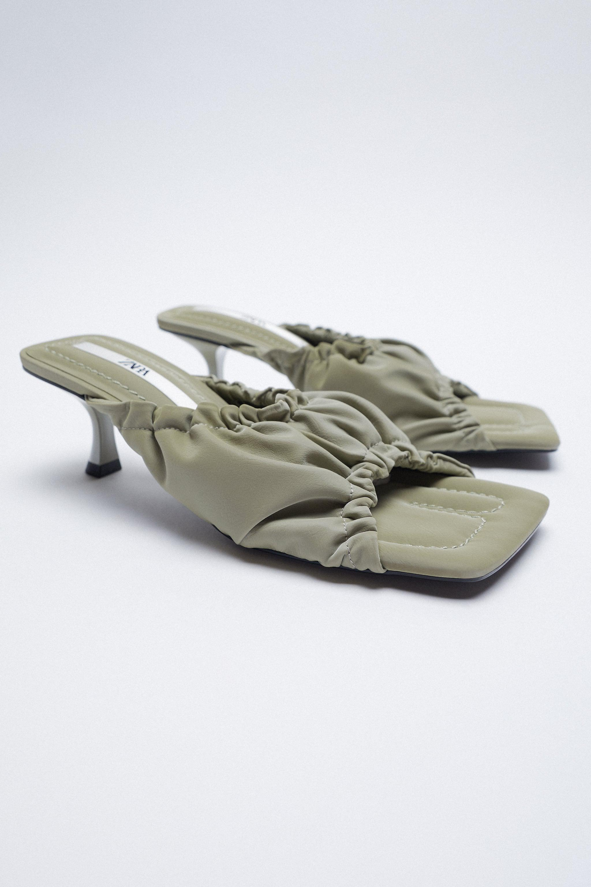 RUCHED HEELED SANDALS 2