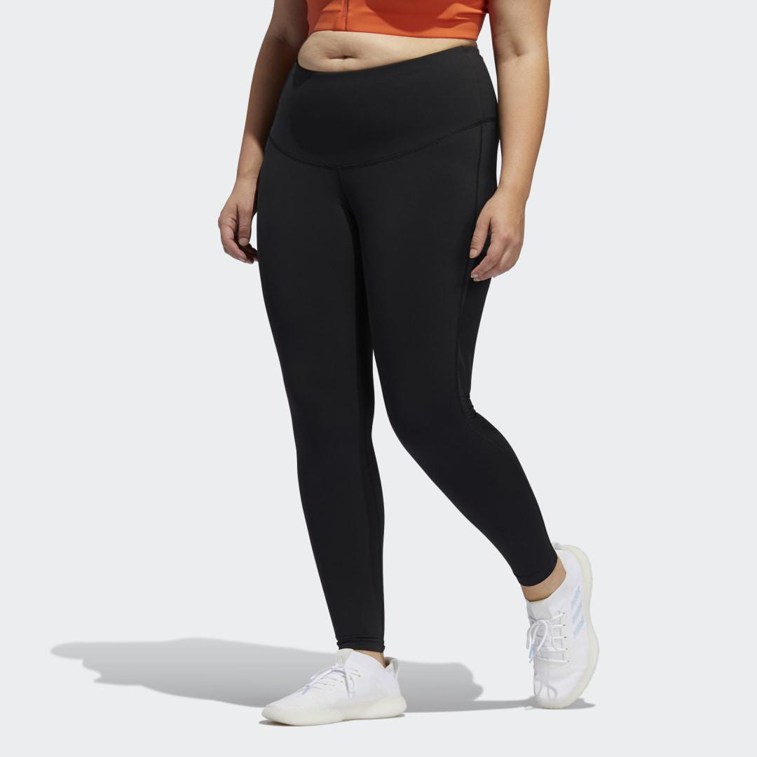 Believe This Solid 7/8 Tights (Plus Size) Black