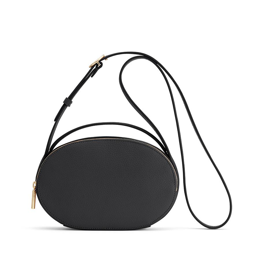 Women's Top Handle Crossbody Bag in Black | Pebbled Leather by Cuyana