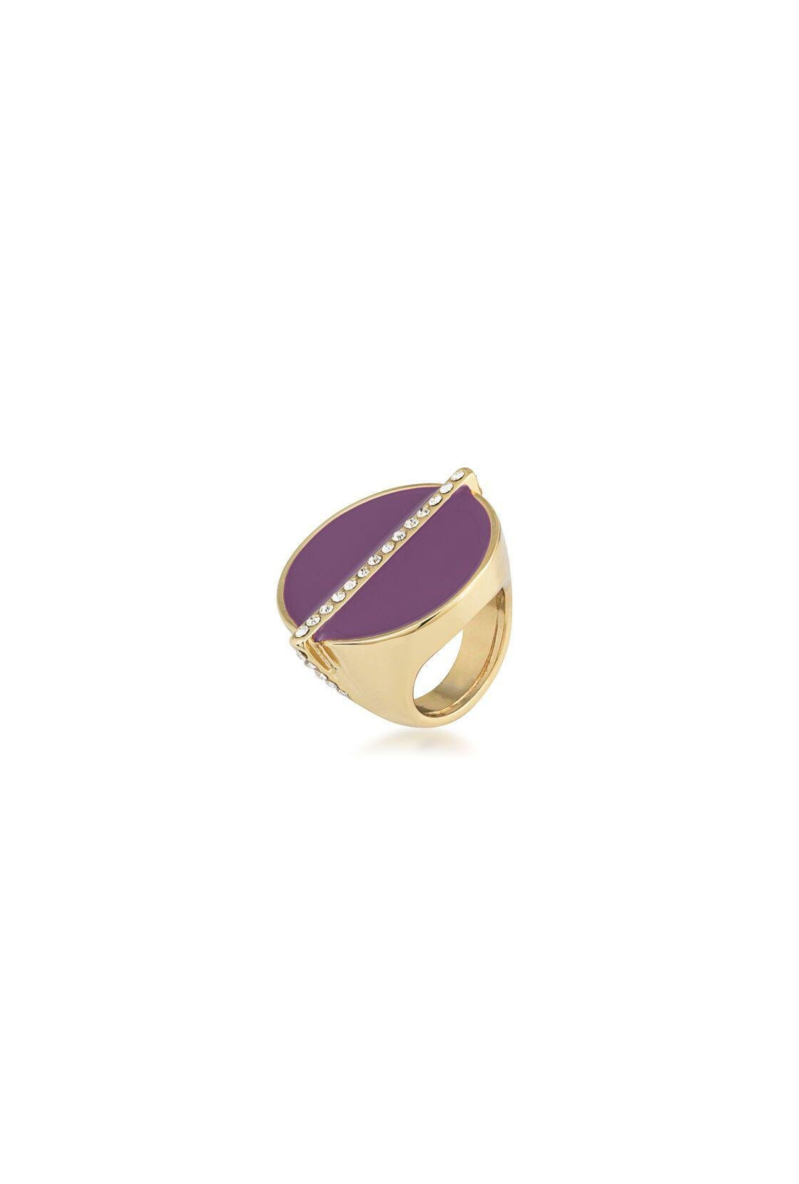 OVAL CAB RING WITH PAVE DETAIL