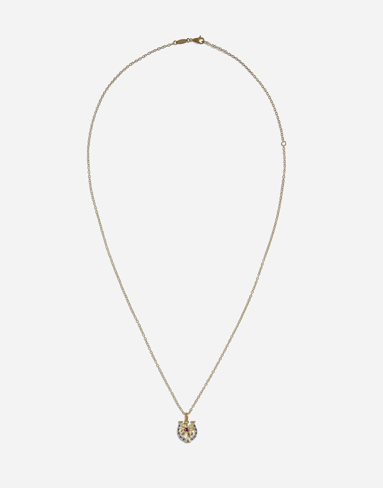 Necklace with good luck charm