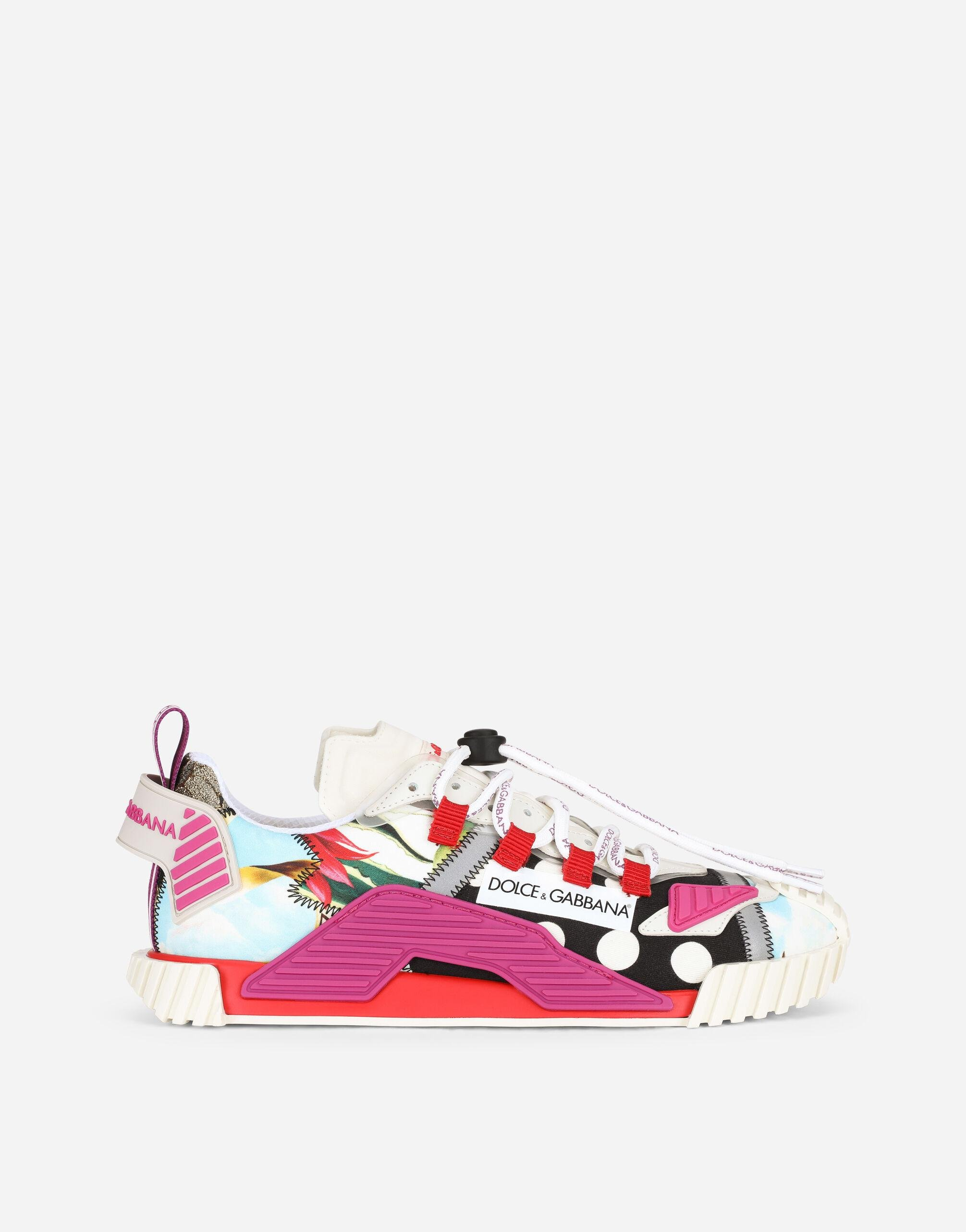 Patchwork fabric NS1 sneakers
