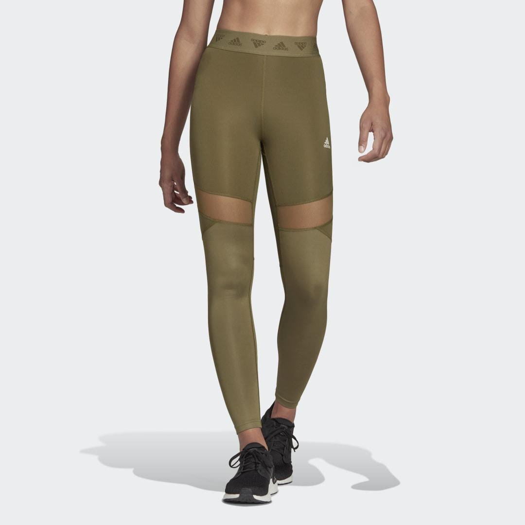 Hyperglam High-Rise Long Tights Focus Olive
