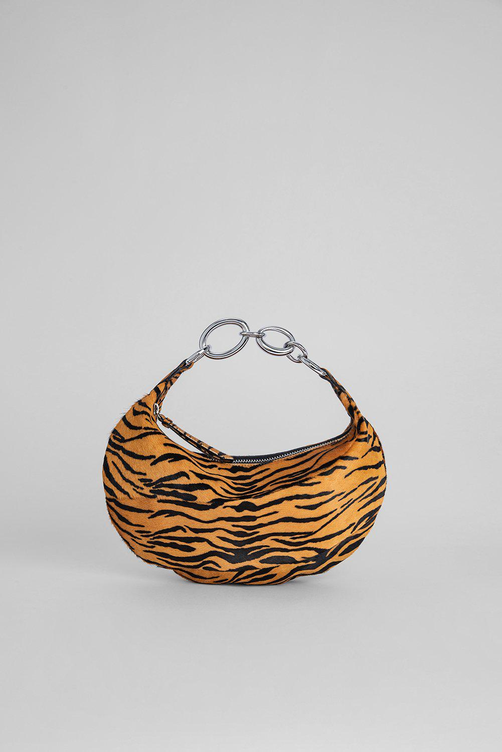 Bougie Tiger-Print Pony Hair Leather 0