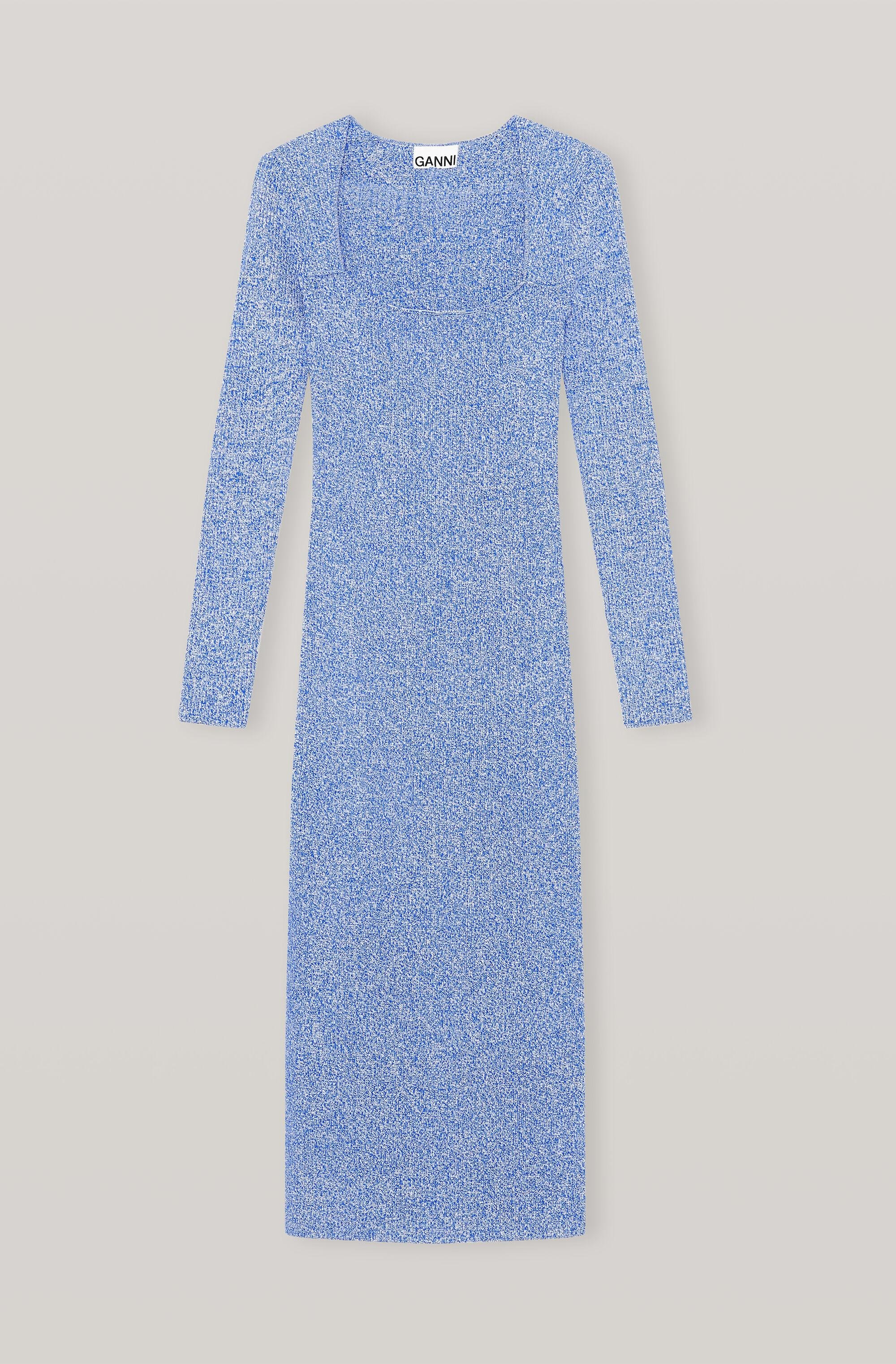 Ribbed Rayon Knit Fitted Dress 2