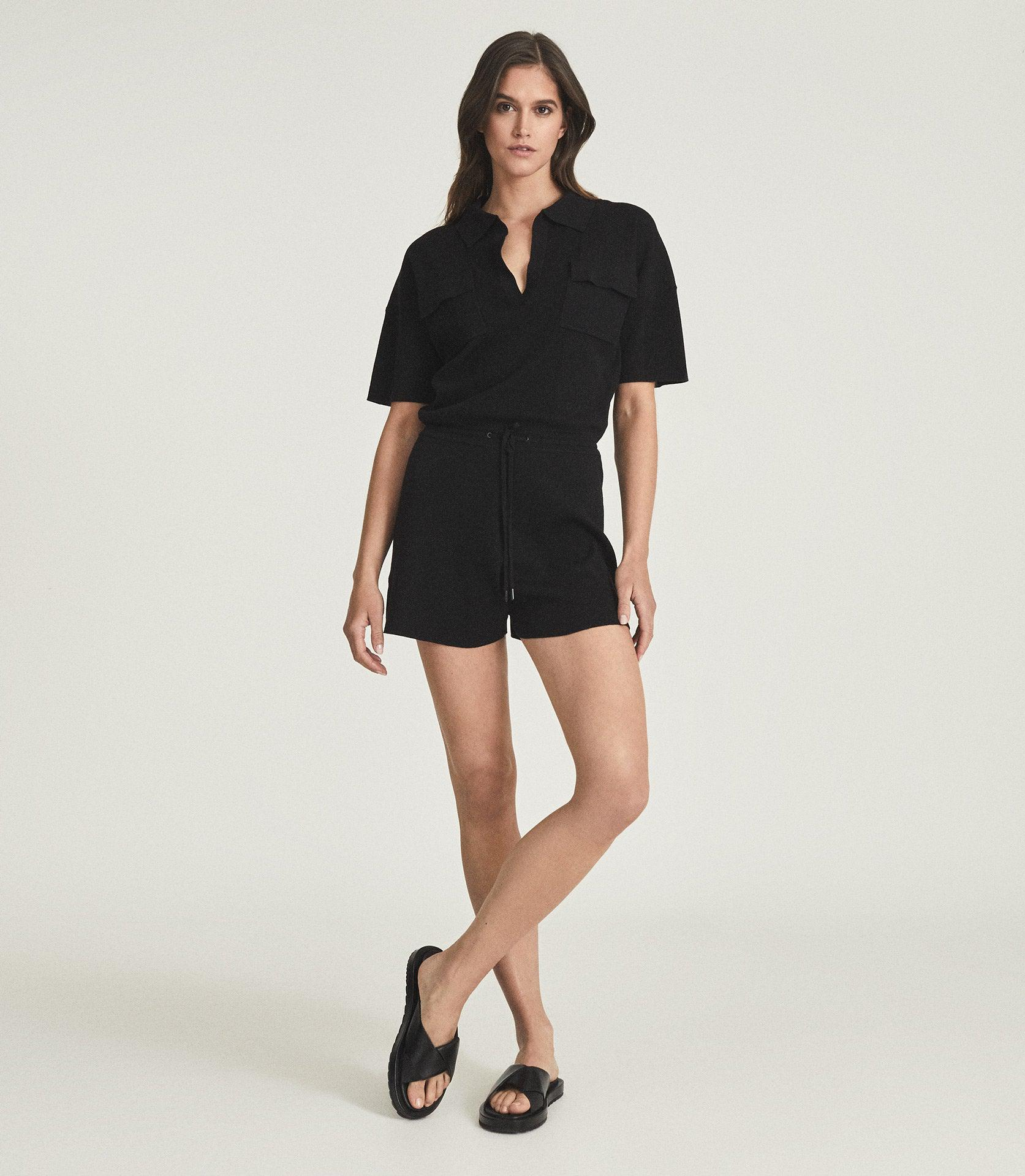CARA - KNITTED TWIN POCKET PLAYSUIT
