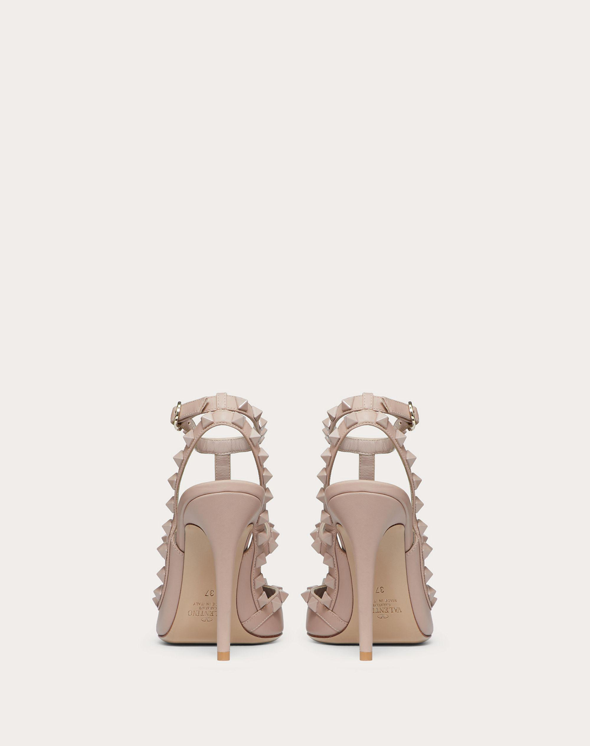 Rockstud Ankle Strap Pump with Tonal Studs 100  mm 2