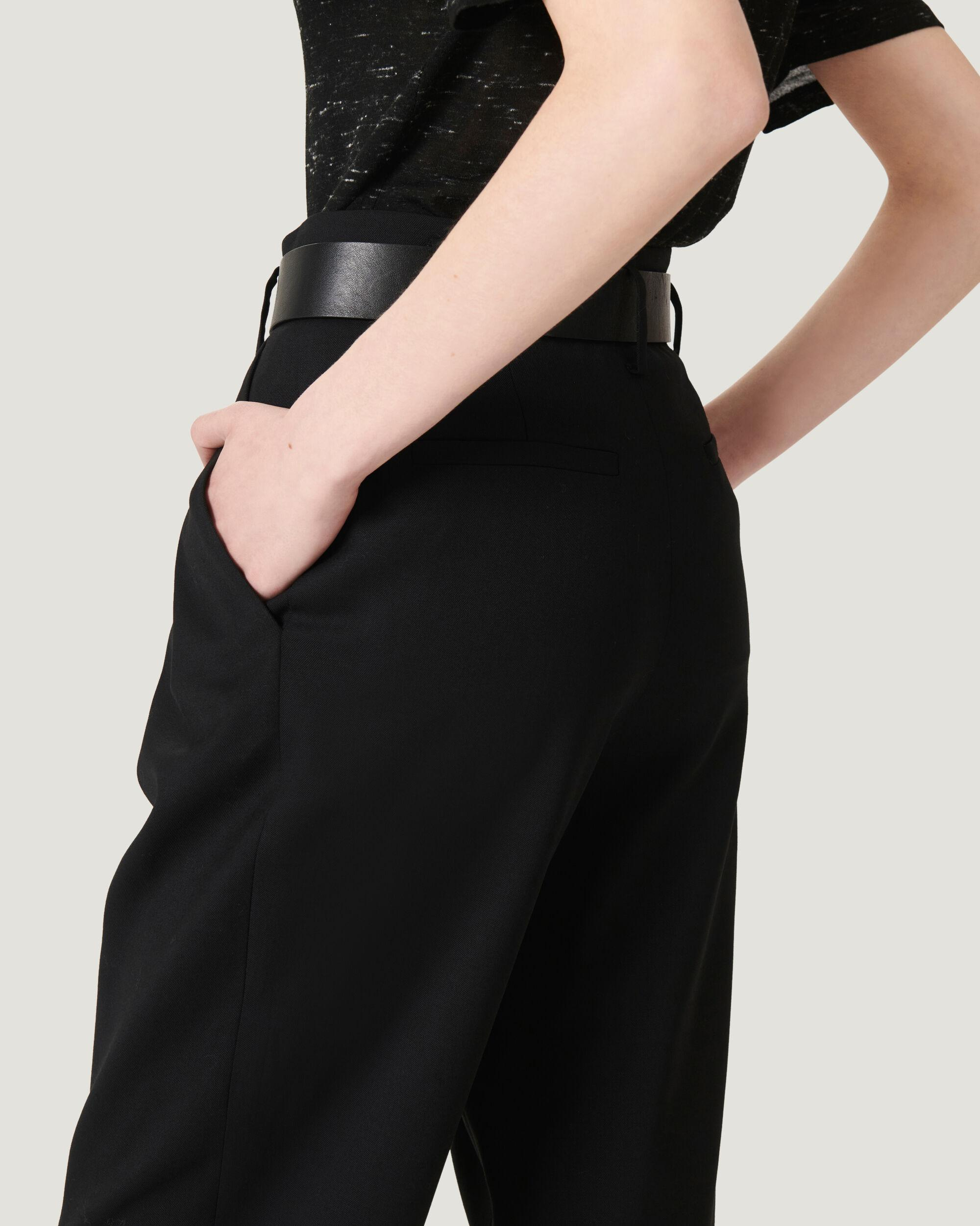ALESSO ULTRA CROPPED PLEATED TROUSERS 1