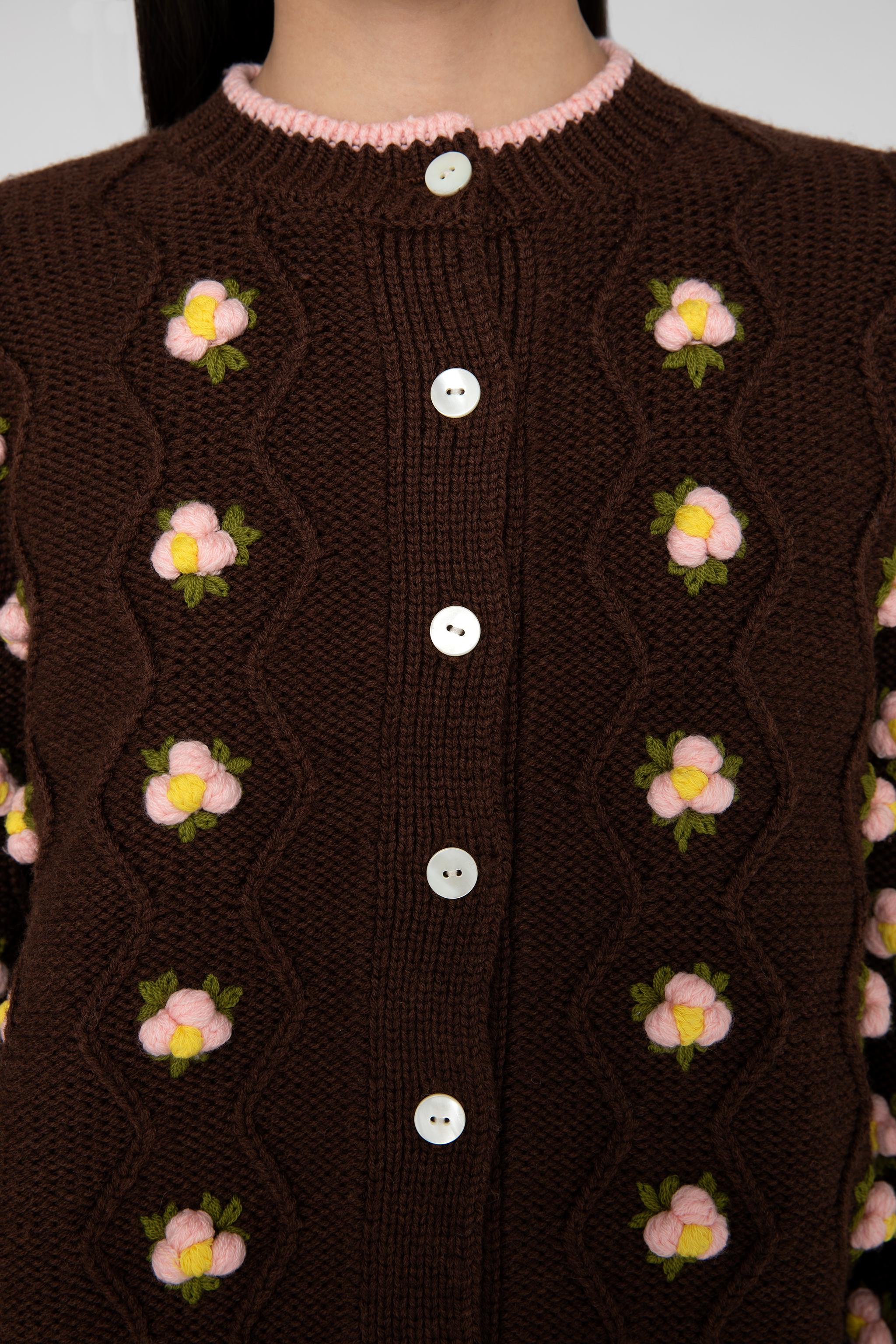 Chester Cardigan - Brown 6