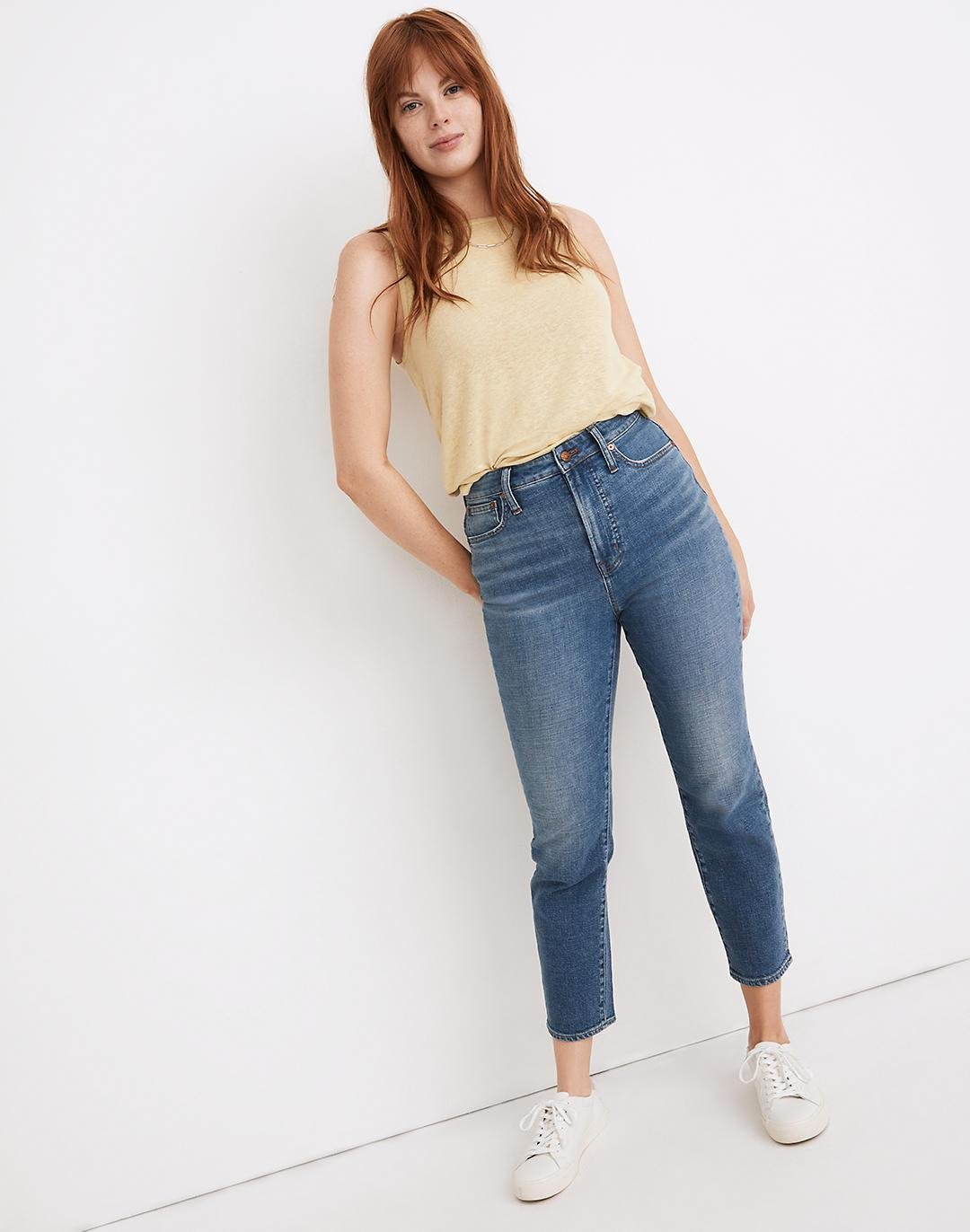 The Curvy Perfect Vintage Crop Jean in Sandford Wash: Summerweight Edition