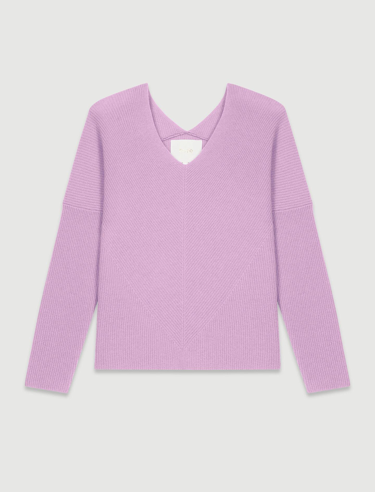 LOW-CUT RIBBED CASHMERE SWEATER 5
