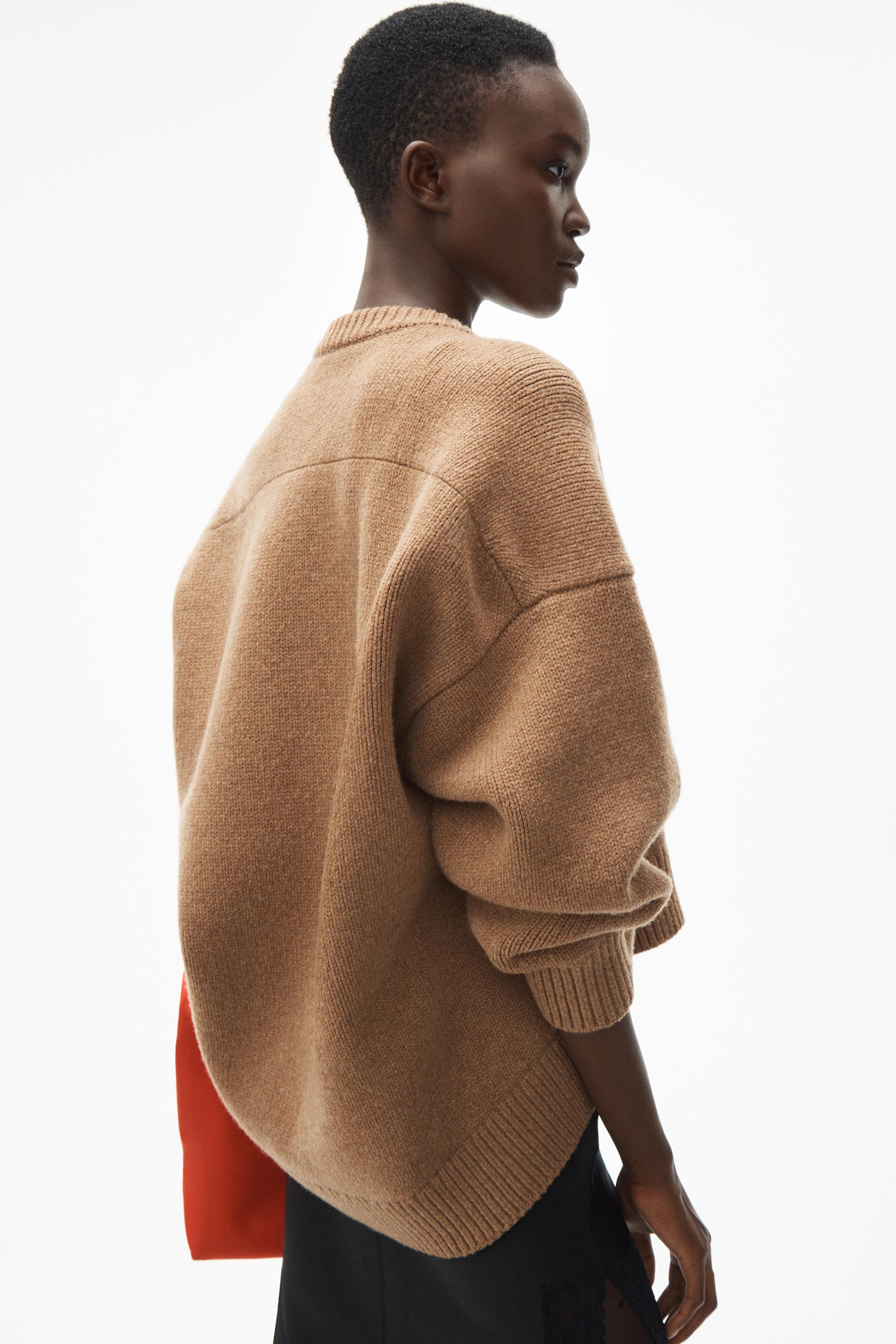 draped back pullover 4