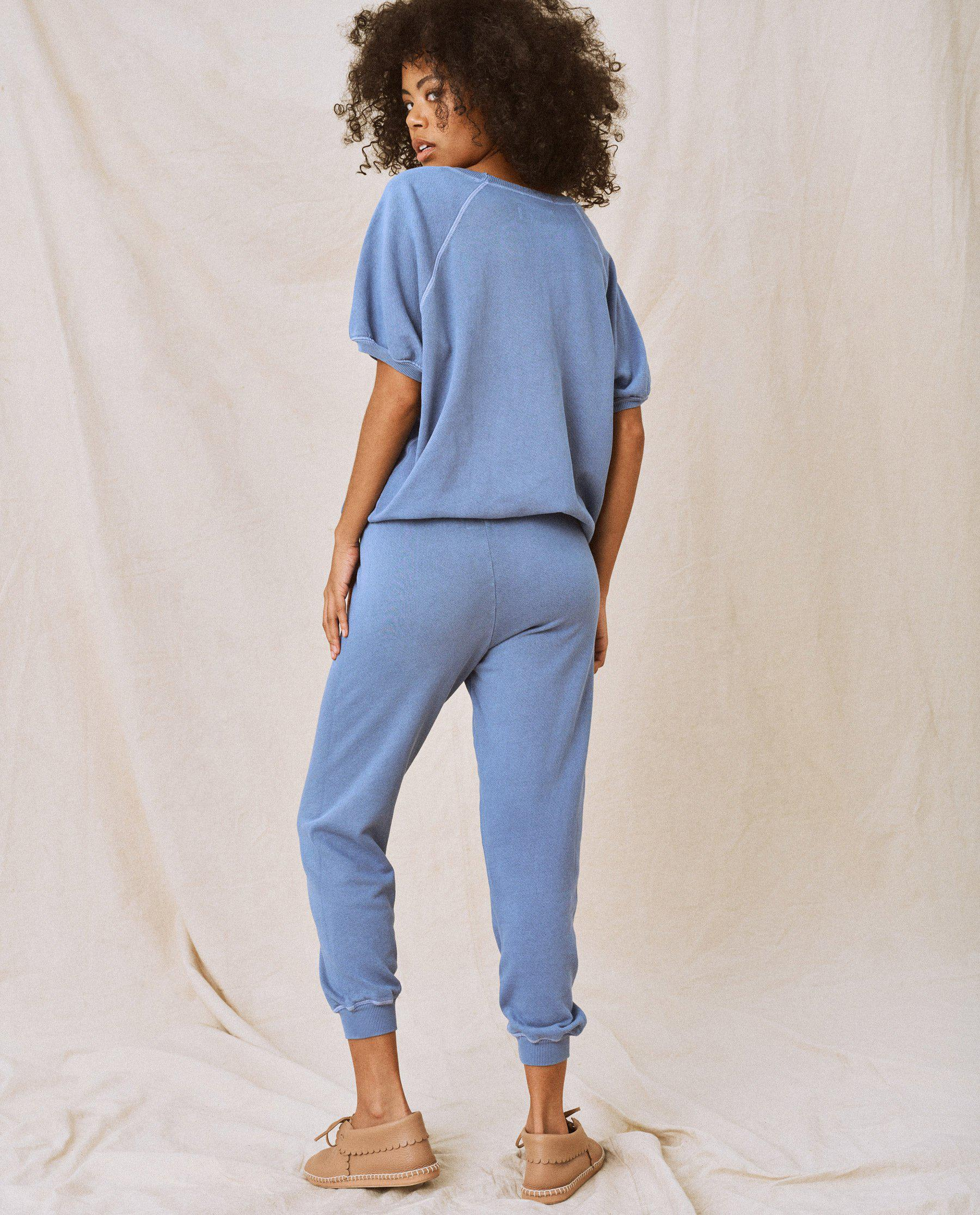 The Cropped Sweatpant. Solid -- Dutch Blue 3