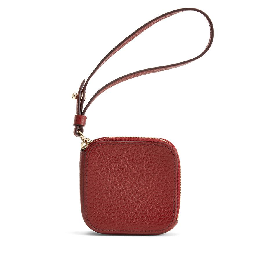 Women's Leather Airpod Case in Rust | Pebbled Leather by Cuyana