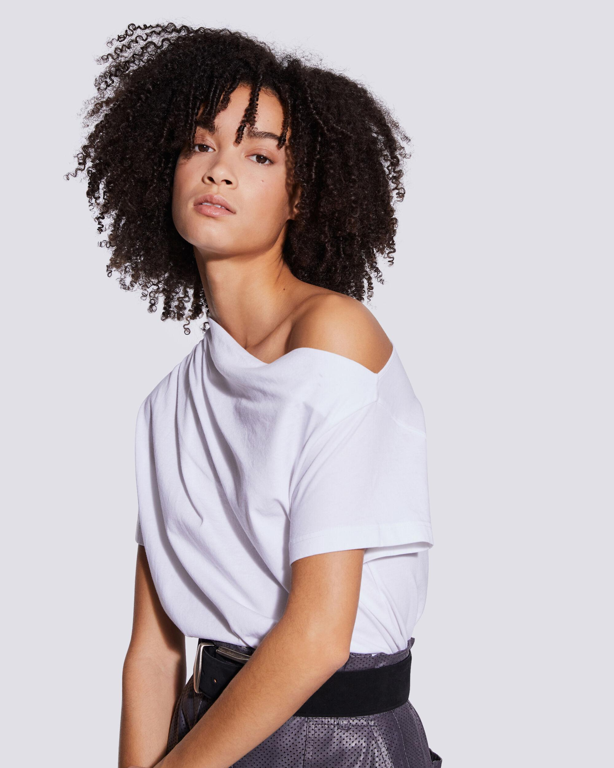 MADLY DRAPED OFF THE SHOULDER T SHIRT