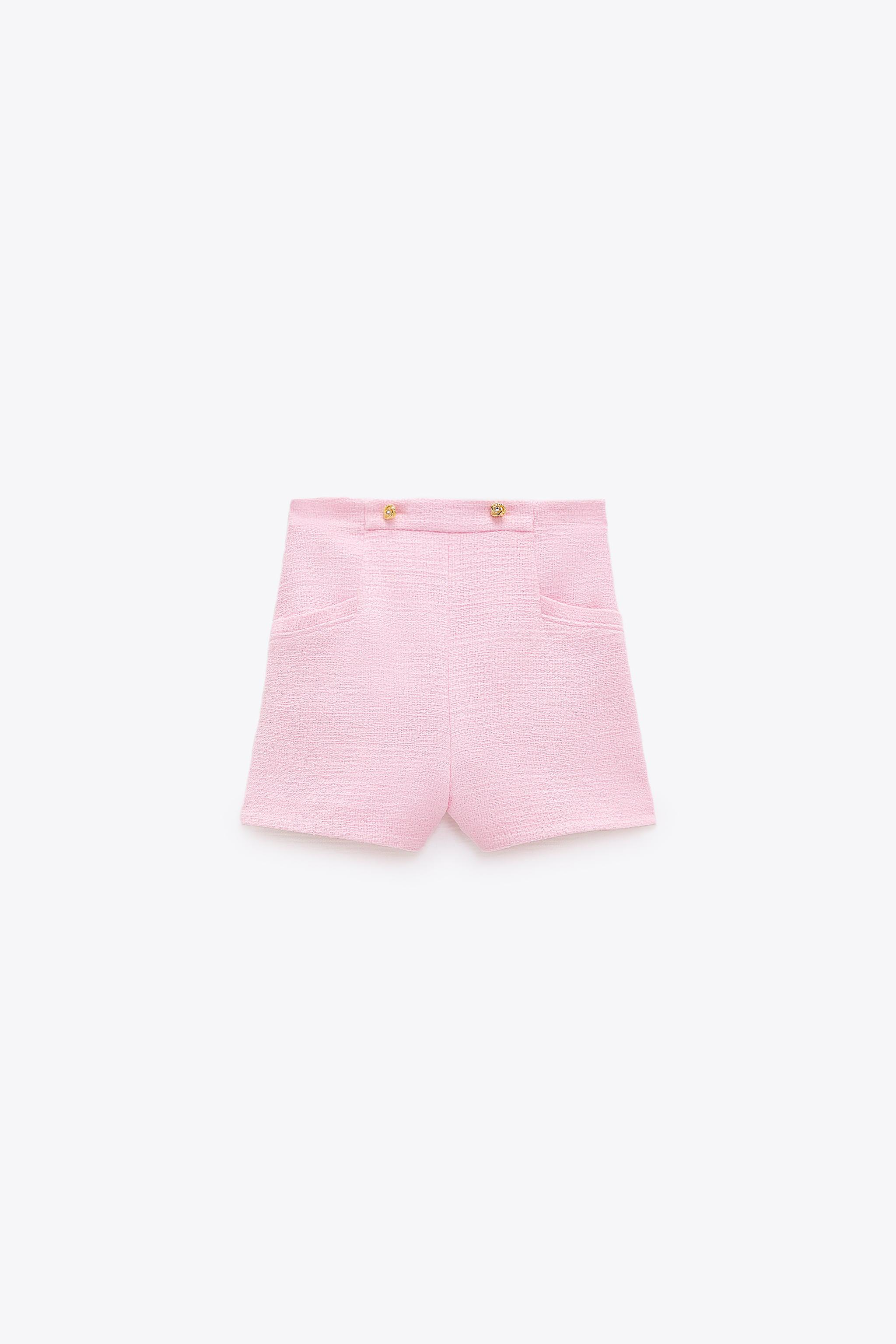 TEXTURED WEAVE SHORTS WITH BUTTONS 5