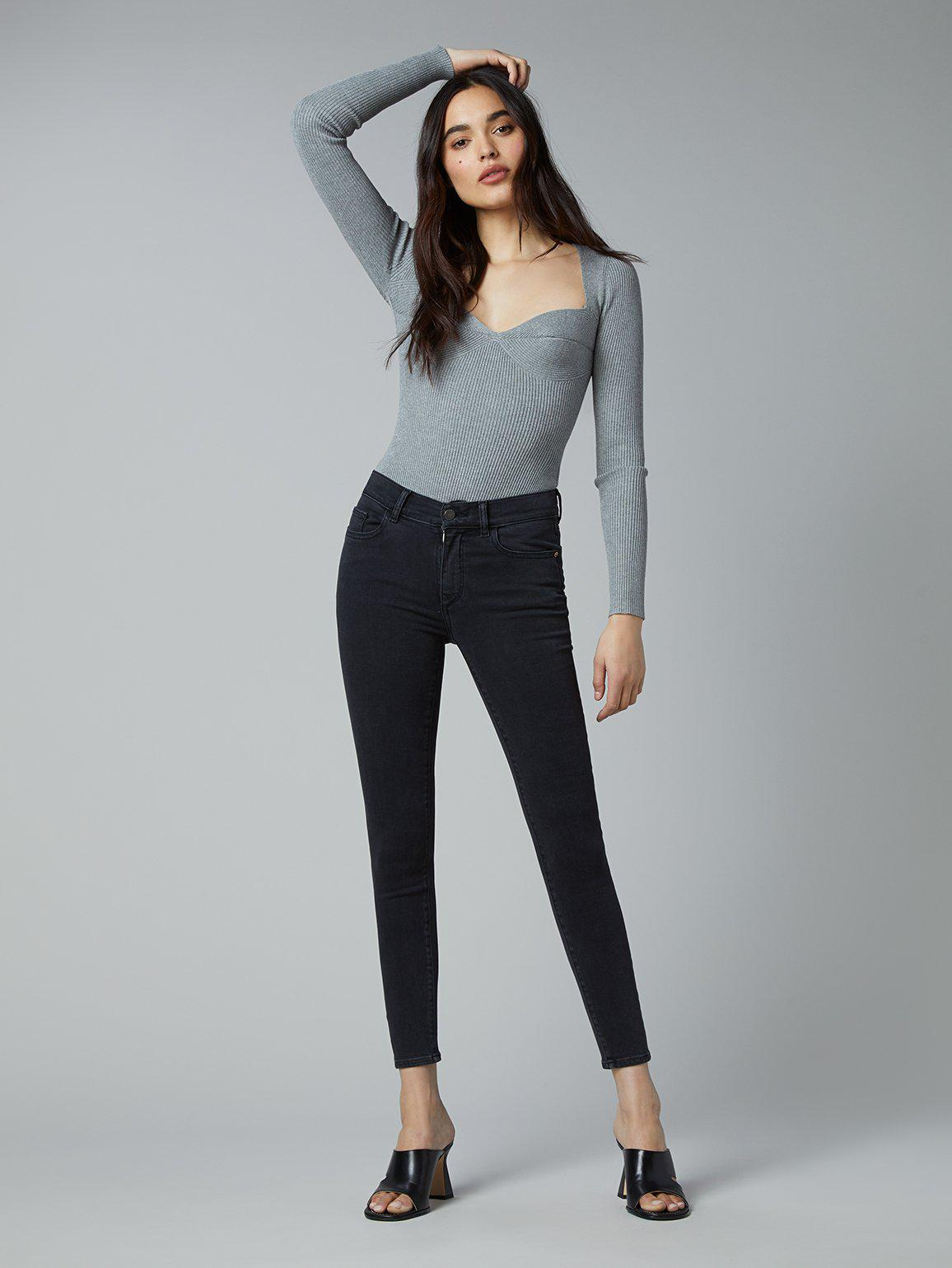 Florence Skinny Mid Rise Instasculpt Ankle | Eclipse