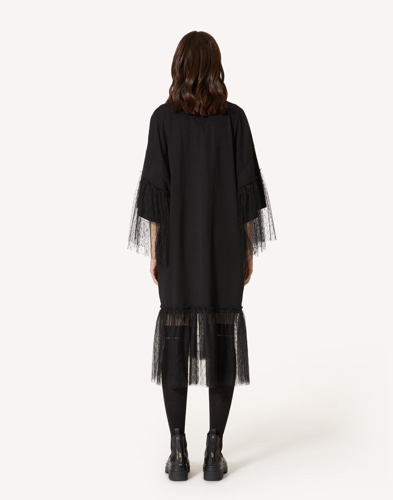"""""""THE BLACK TAG"""" - JERSEY DRESS WITH POINT D'ESPRIT TULLE 1"""