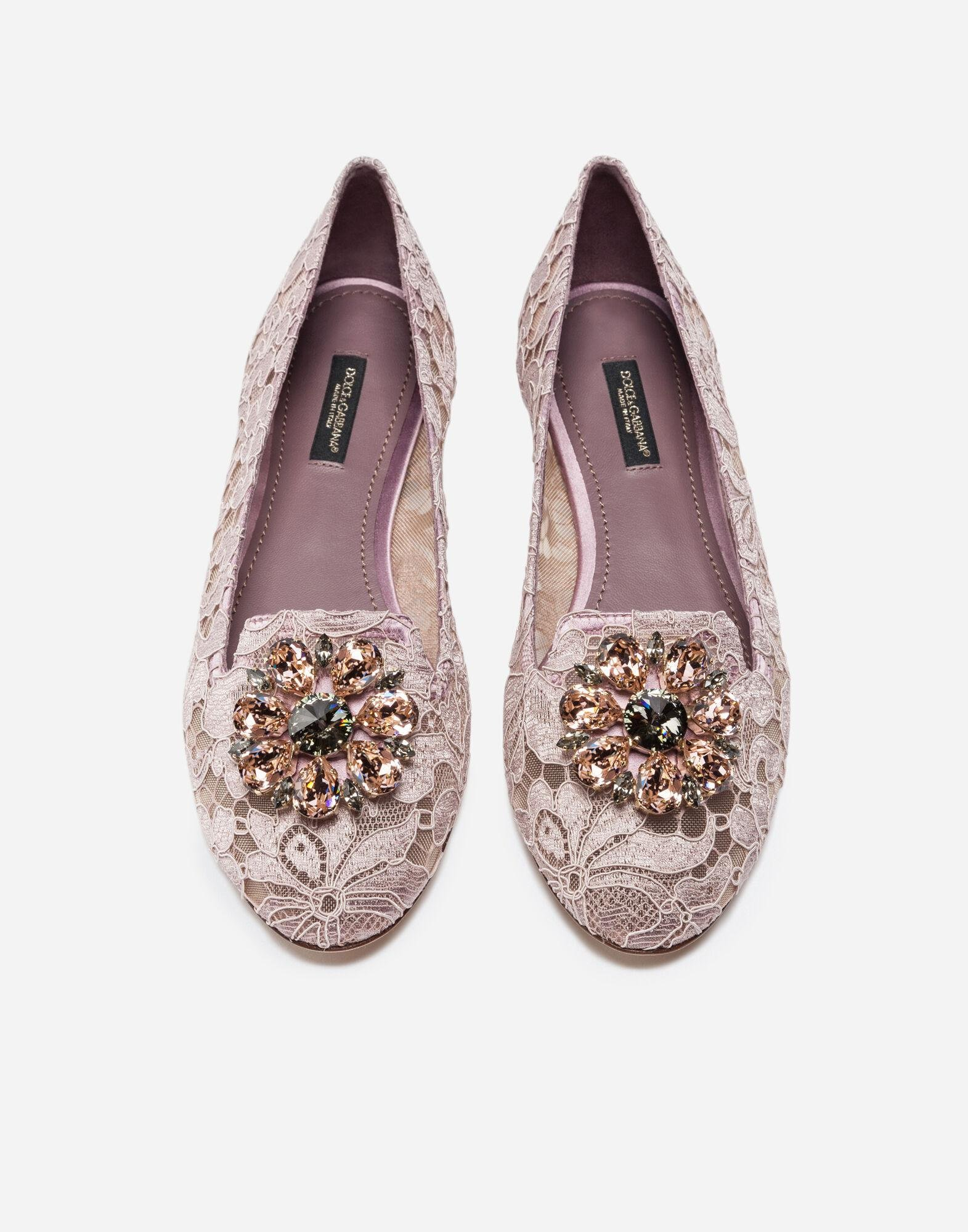 Slipper in Taormina lace with crystals 2