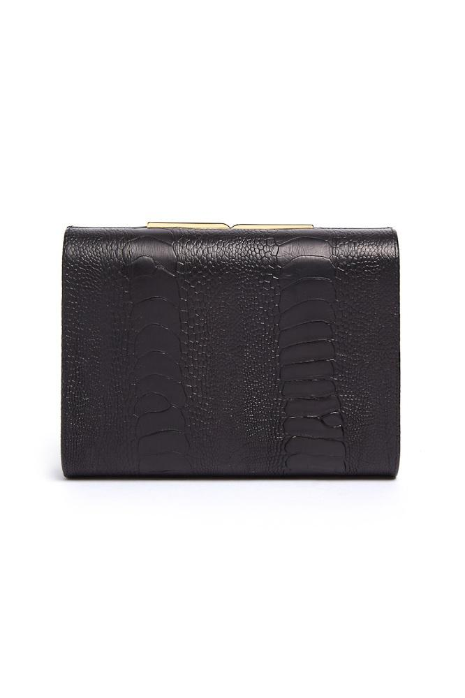 ODP by Arizona Muse Toscano Clutch - Sustainable Ostrich Leather