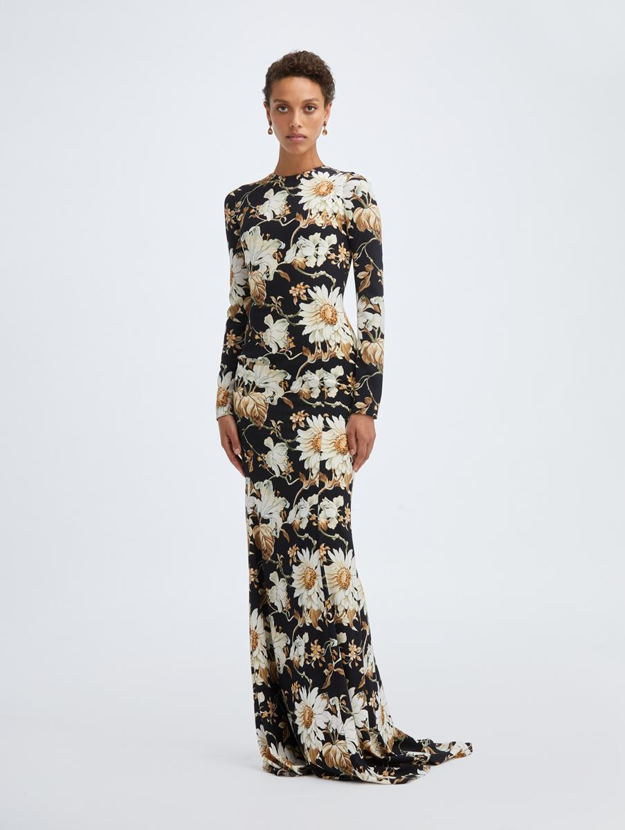 DAISY AND VINE CREPE GOWN