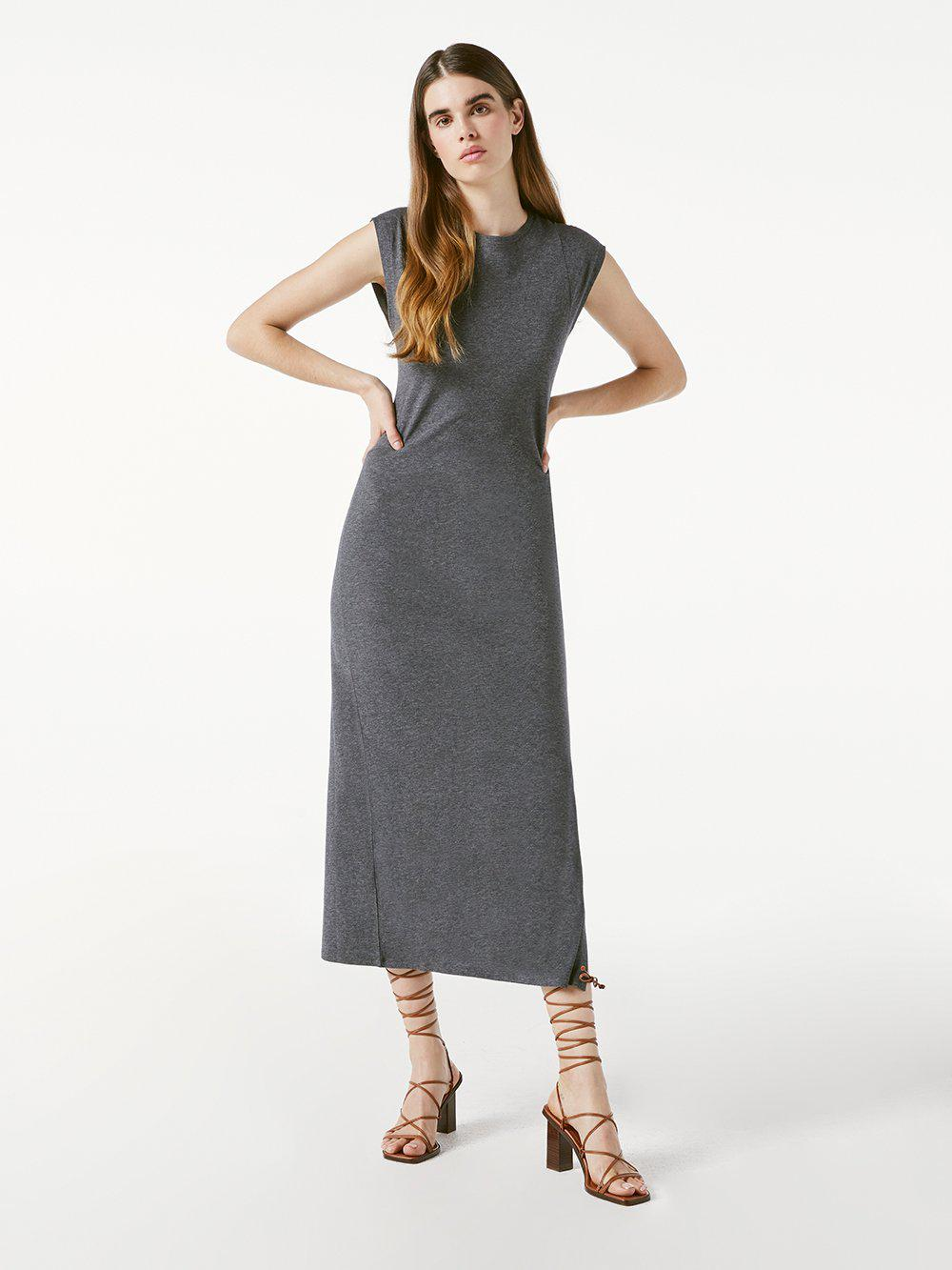 Le Muscle Maxi Dress -- Charcoal Heather