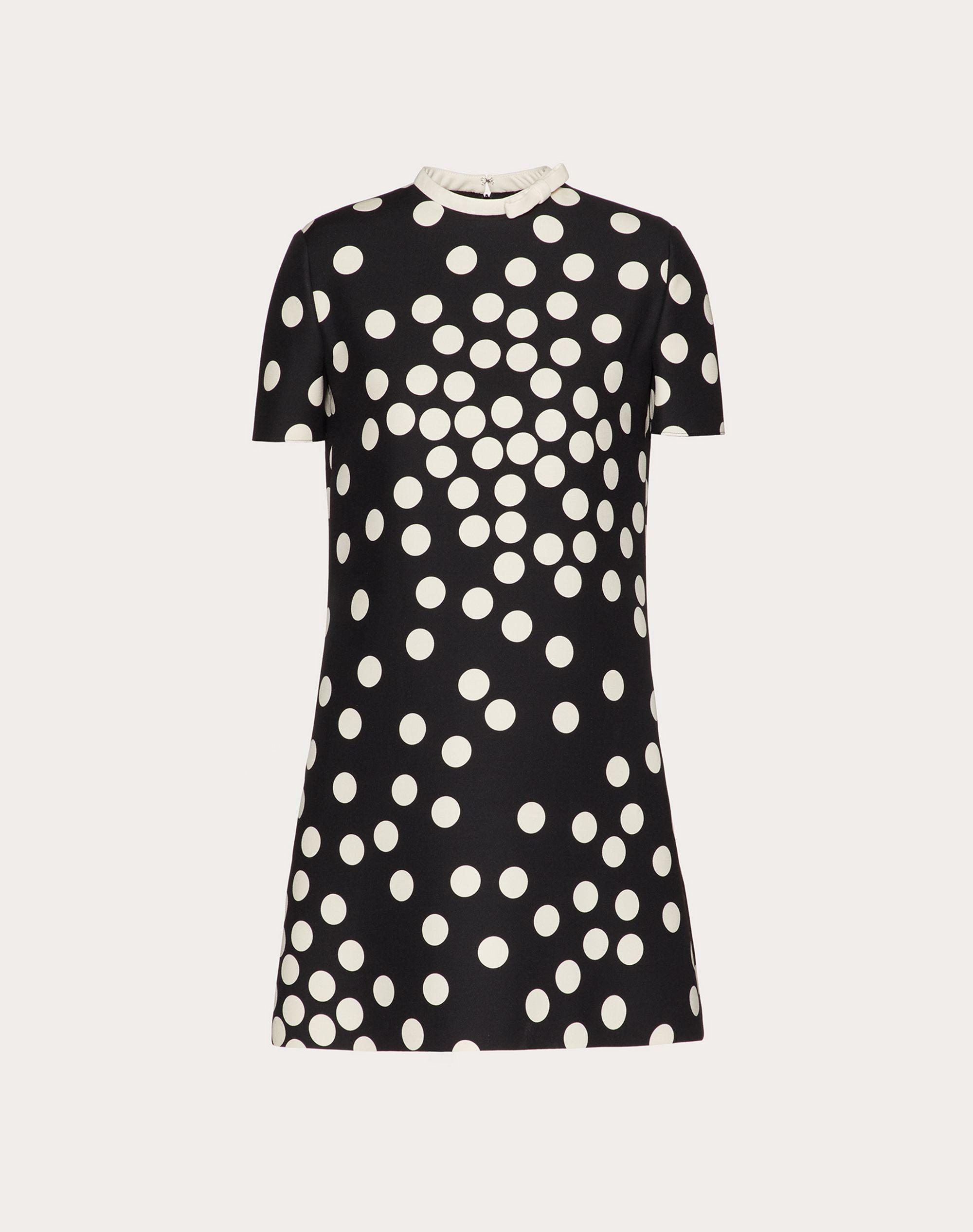 SHORT PRINTED CREPE COUTURE DRESS 4
