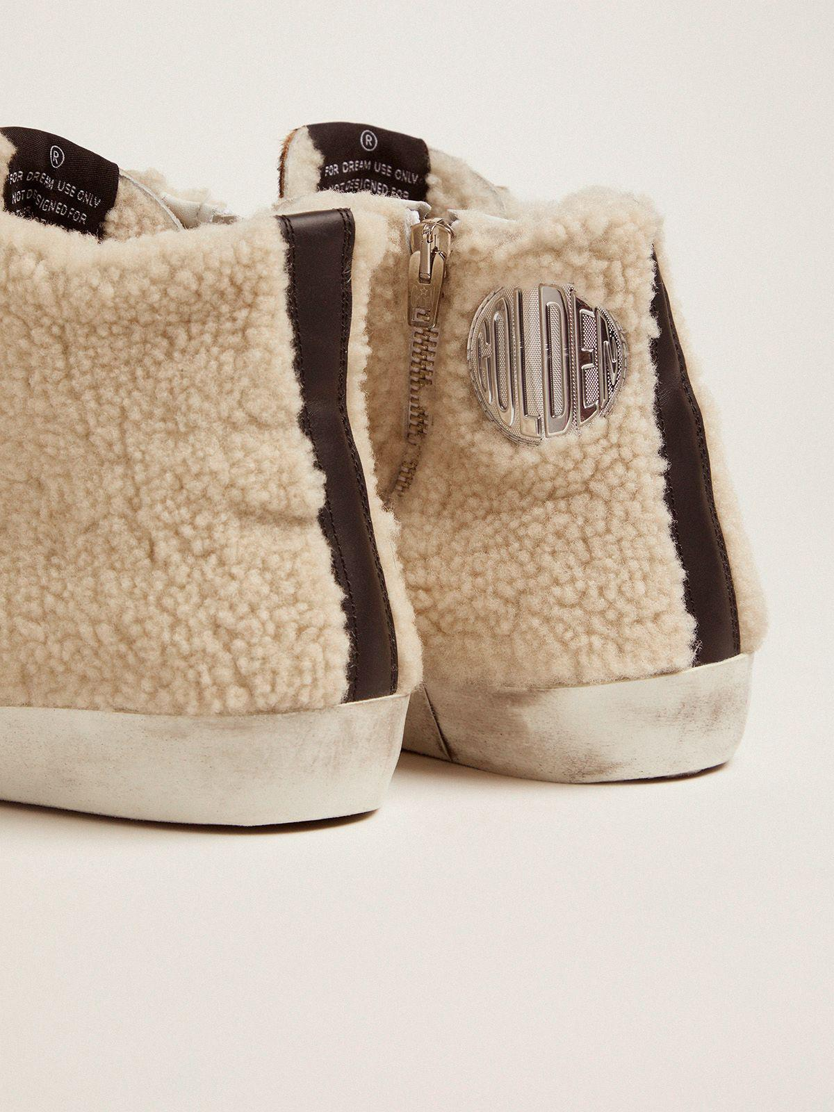Francy sneakers made of shearling and pony skin with a leopard print 3