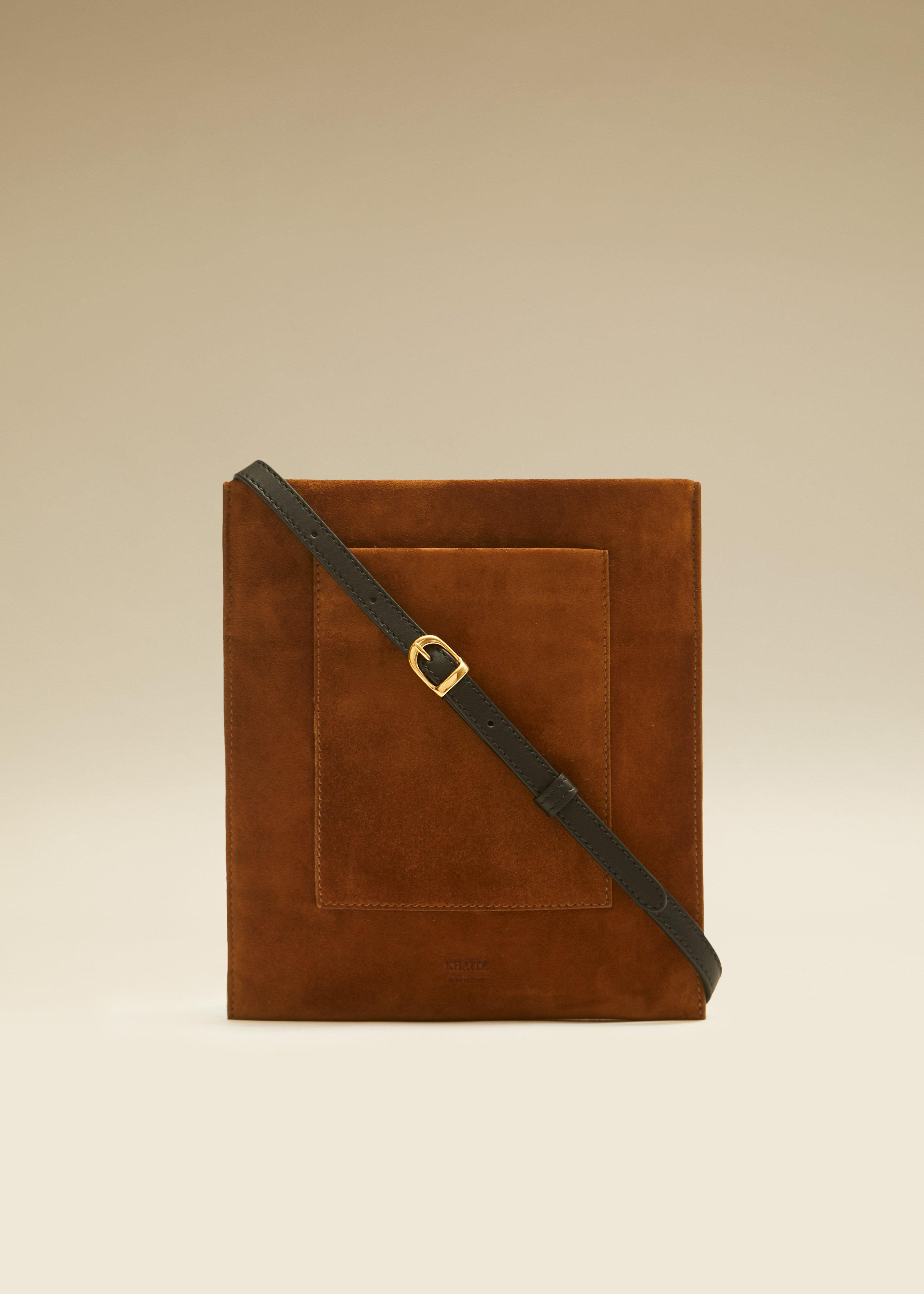 The Lillian Pocket Pouch in Caramel Suede