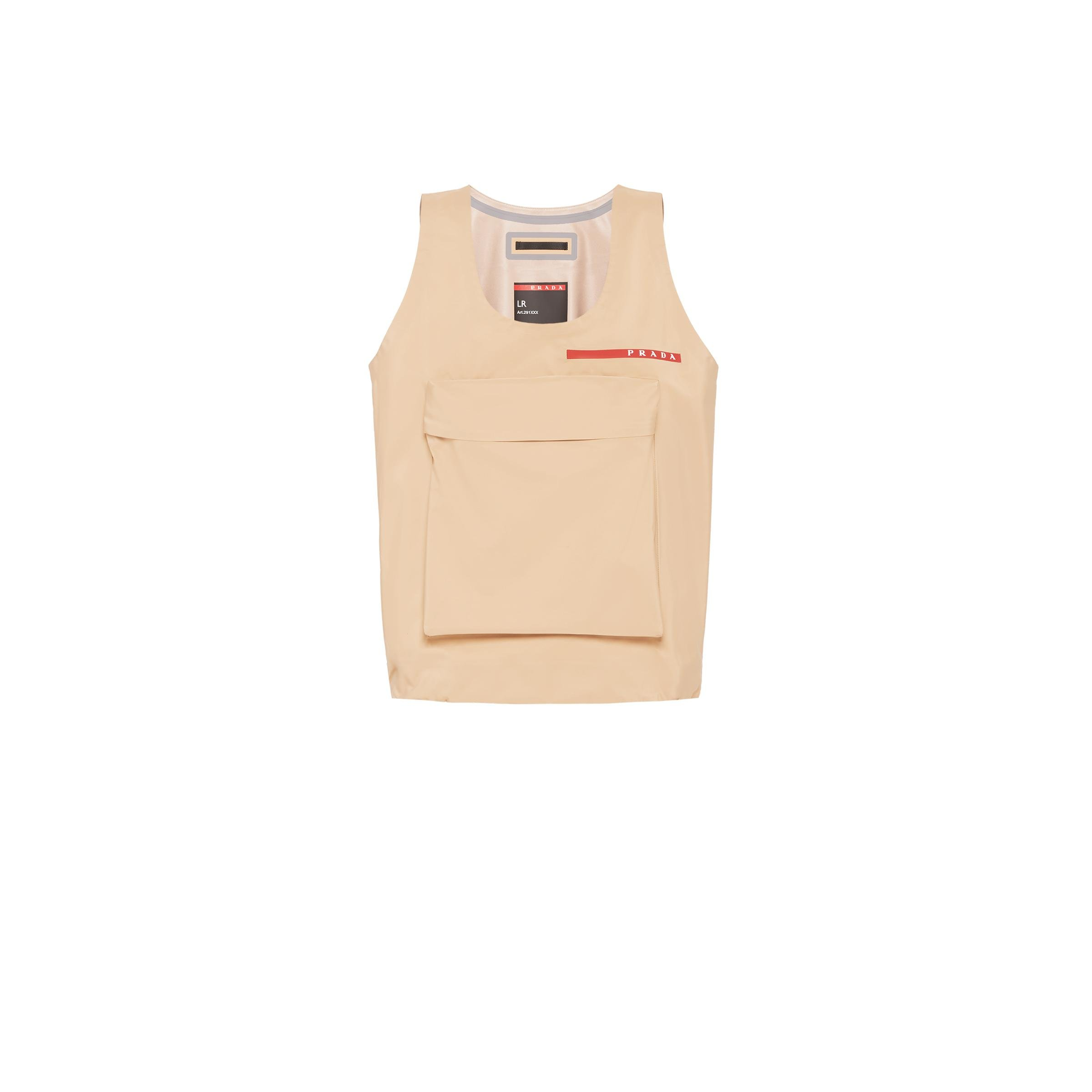 Technical Fabric Top With Large Pocket Women Cord