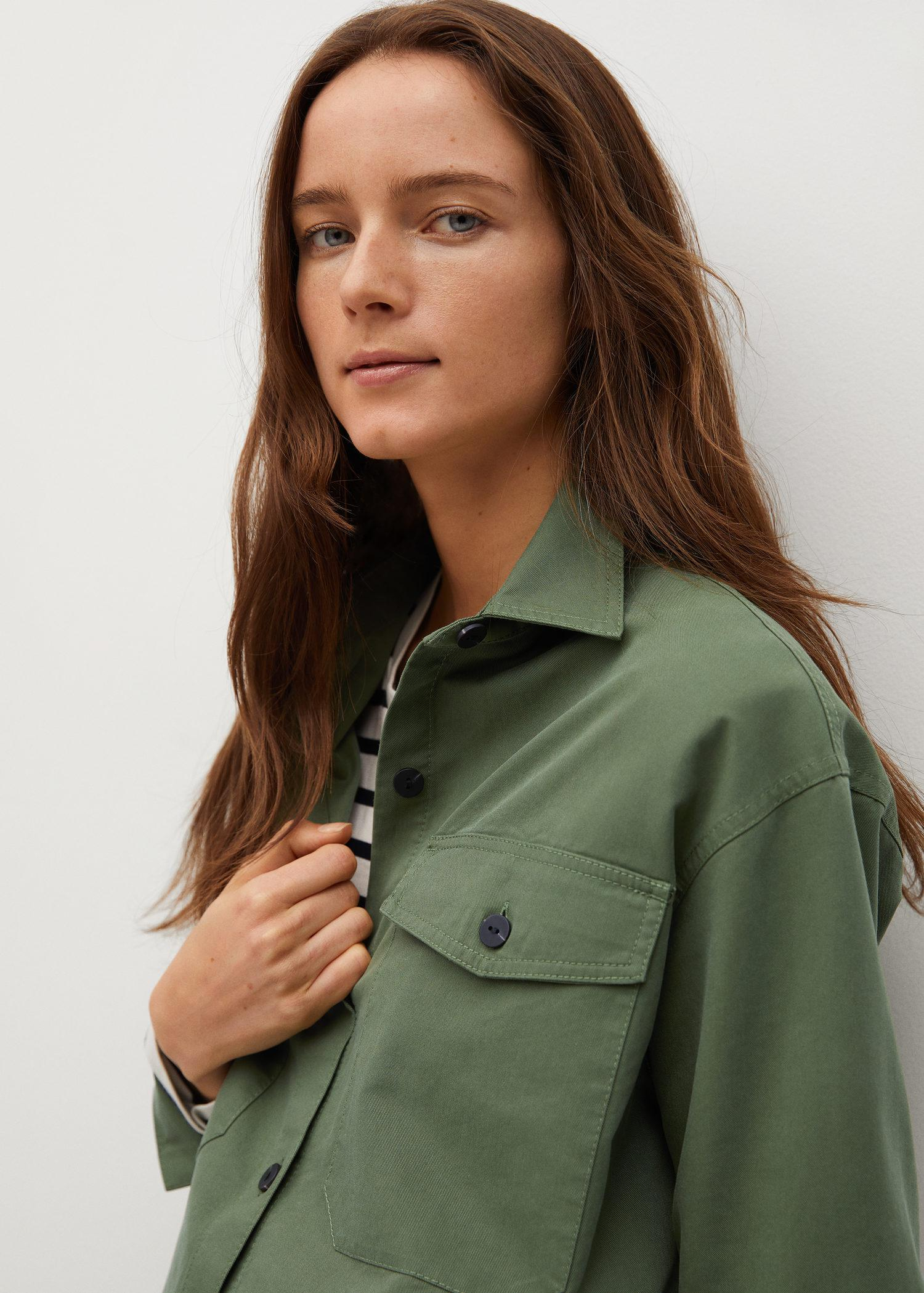 Cropped cotton overshirt 6