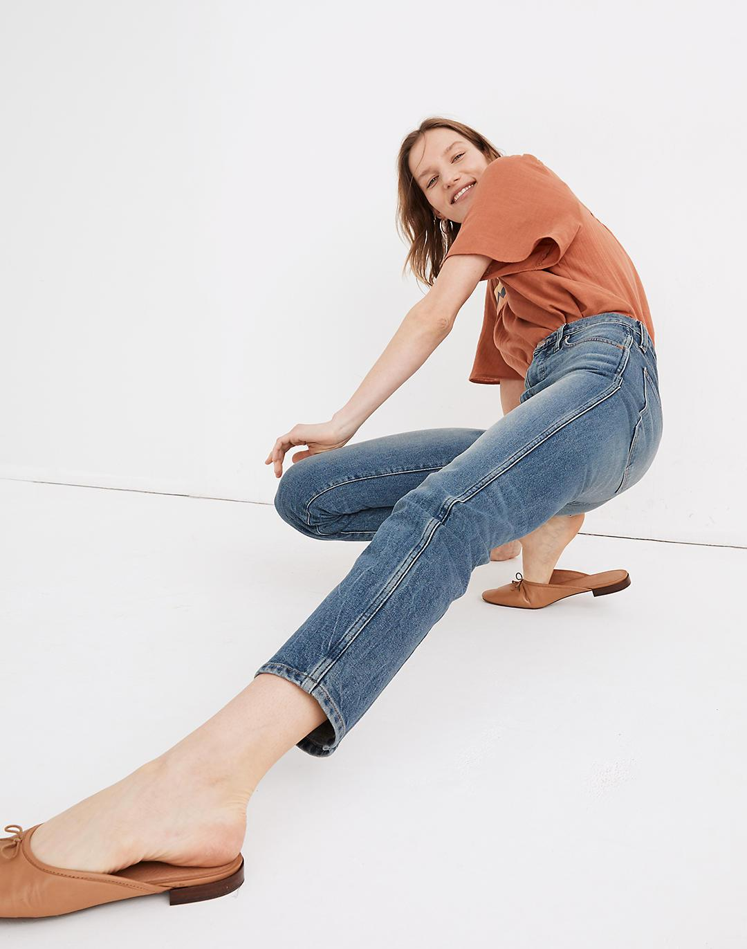 Rivet & Thread High-Rise Stovepipe Jeans in Keyes Wash 1