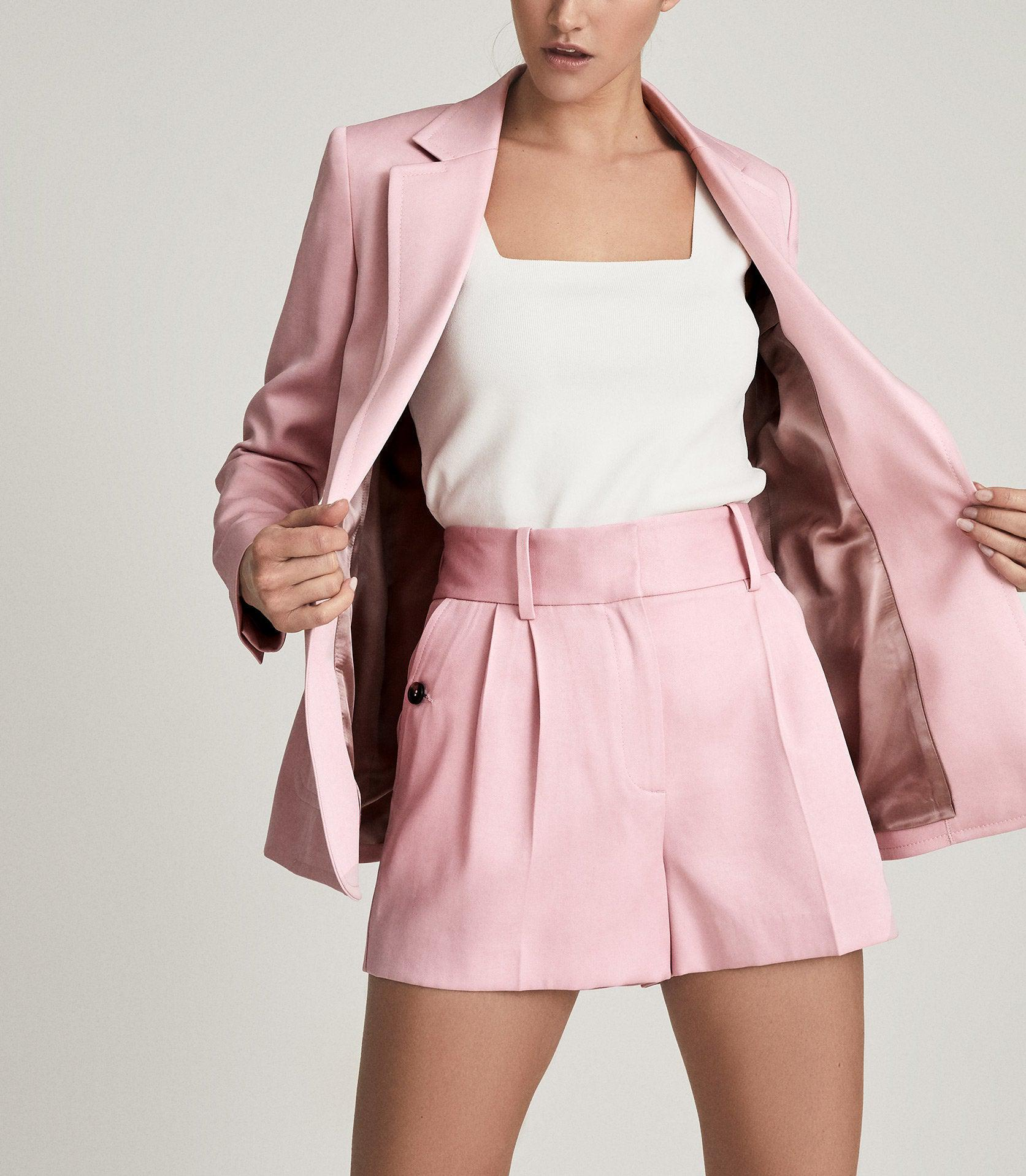 EMBER - TAILORED PLEAT FRONT SHORTS 6