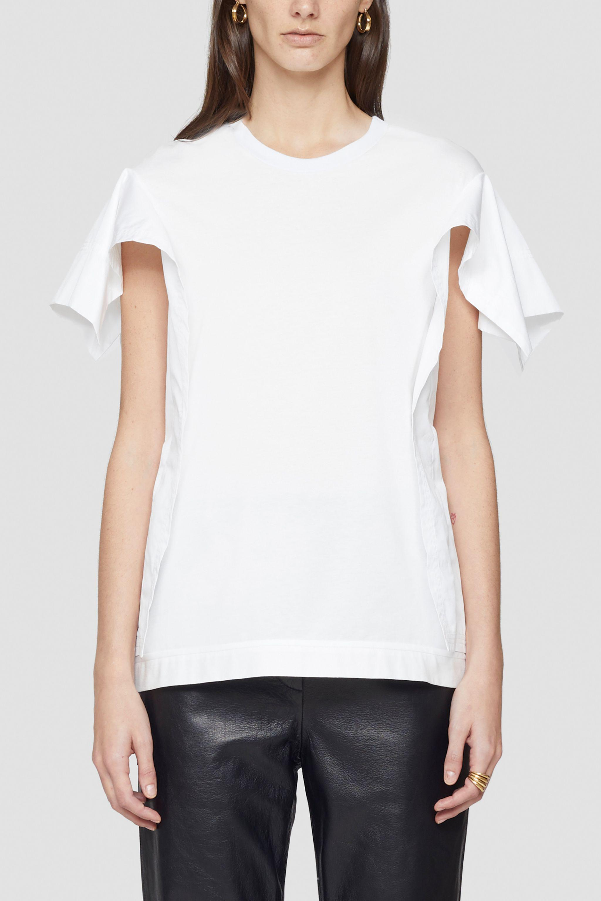 Combo T-Shirt With Ruffled Sleeves