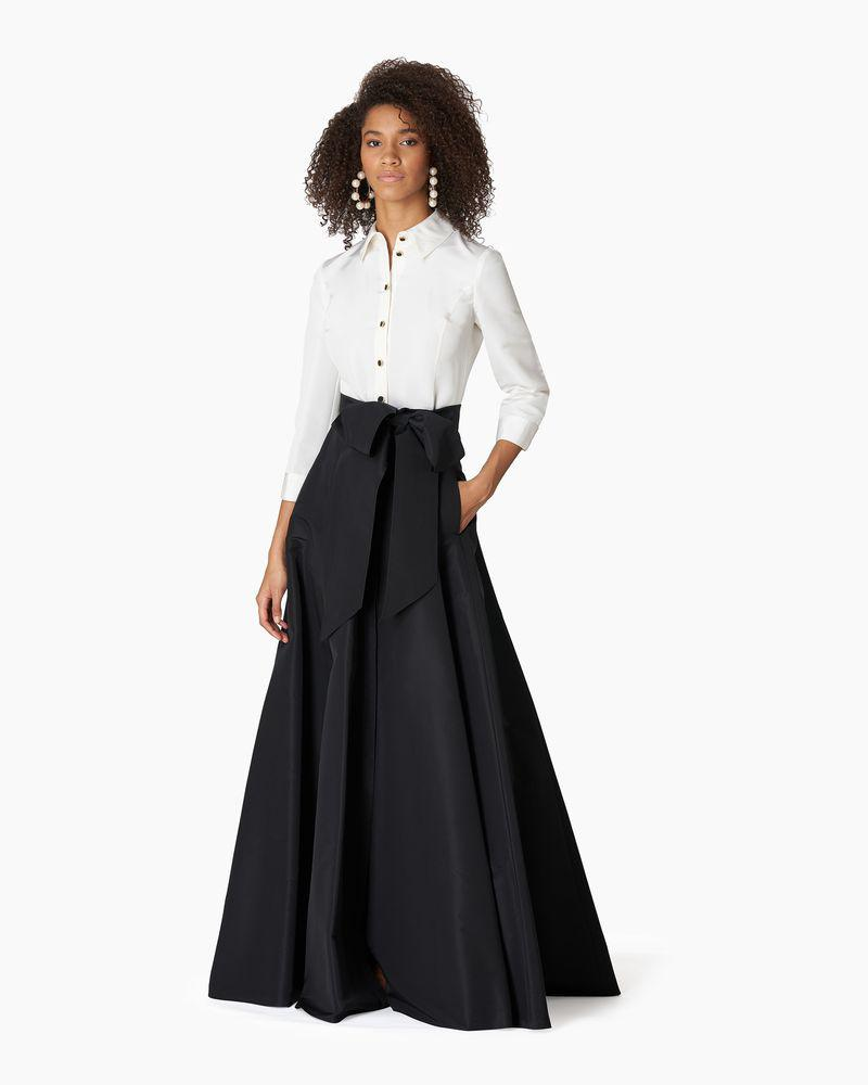 Contrast Trench Gown With Self Belt